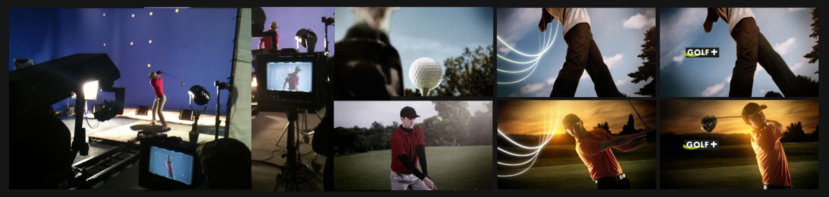 Production Assist 'Golf+' Idents Client: Canal+ Agency: Devilfish