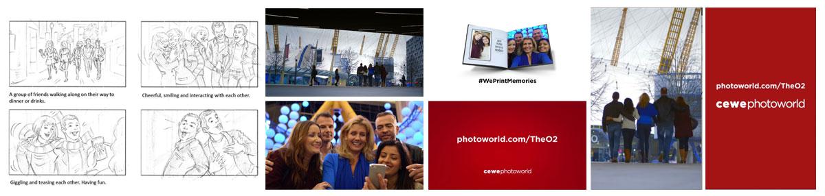 Producer 'Photoworld Memories' Digital OOH for The O2 Client: CEWE Agency: Distilled