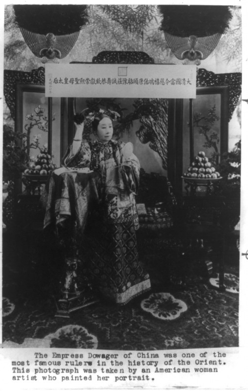 China's Empress Dowager was wild about San Diego's tourmalines. Her love of this gem triggered the California boom in the early 1900s. According to the Smithsonian, this photograph actually was taken by a diplomat's son, Xunling, who was in his early 20s  (Library of Congress)