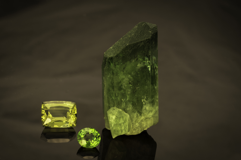Green jewels  from the Larsons' collection.   Click image to enlarge.   (Photo: Mia Dixon)