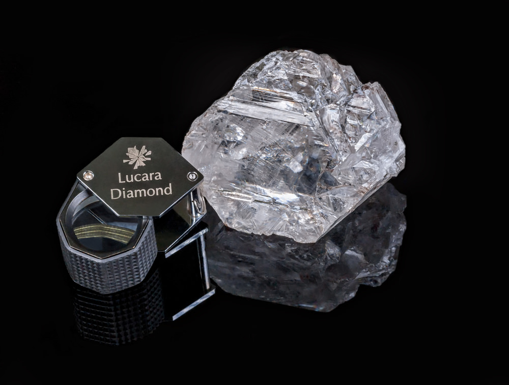 The  1,111 carat diamond  was recovered from a mine in Botswana. We at Pala International think this would be a pretty superb crystal specimen.The best place for it would be the Smithsonian Institution displayed next to the Hope Diamond.(Photo courtesy Lucara Diamond Corp.)