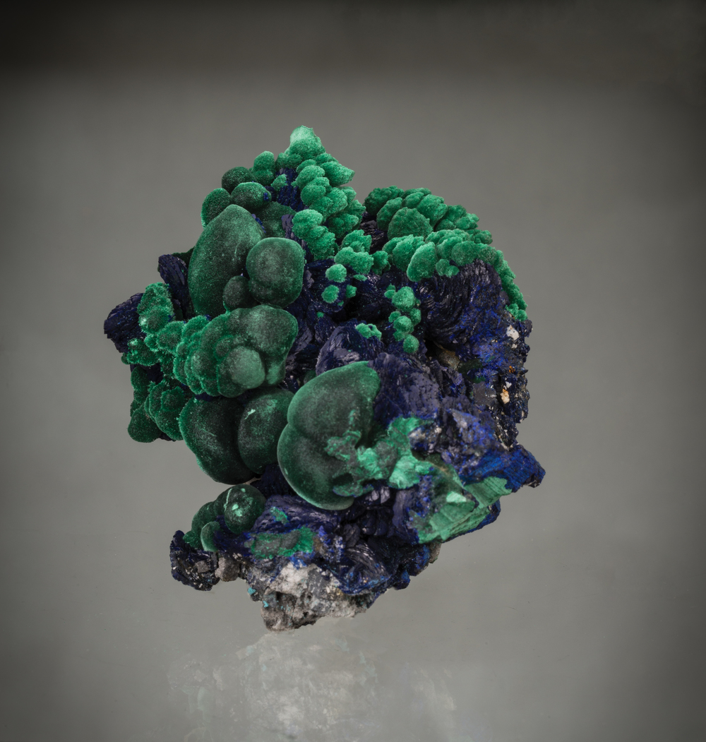 Azurite and malachite   from the Sepon Mine, Vilabouly, Savannakhet, Laos, 8 x 6 x 5 cm. Price available upon request. (Photo: Mia Dixon)