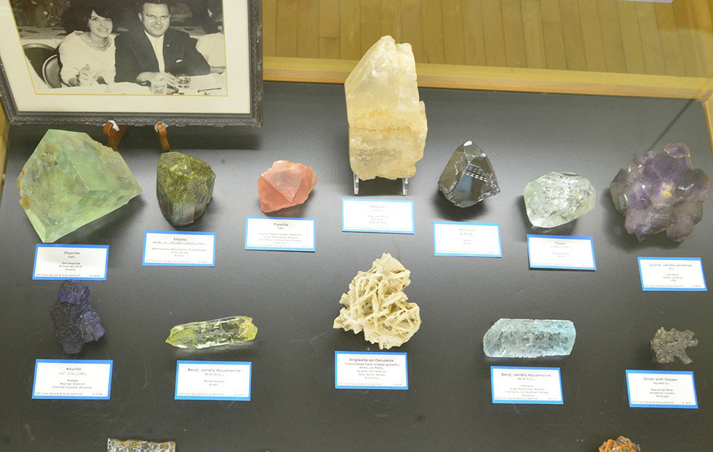 Items from the Herfurth collection are currently on display. The couple is pictured at upper left. Photo from a September 23  news release .