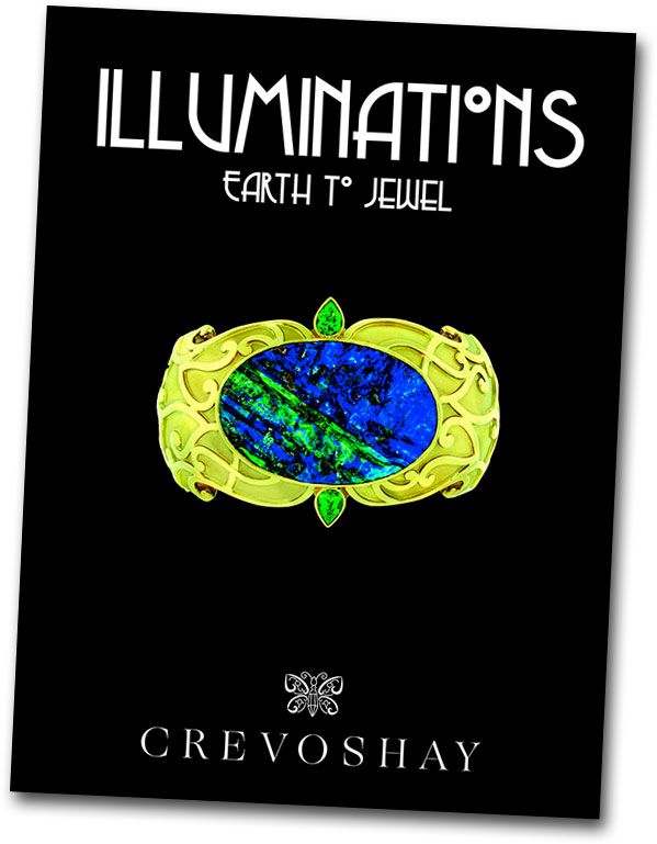 Illuminations: Earth to Jewel   is the title of the accompanying volume created in conjunction with the exhibition. It features text by Paula Crevoshay and Christopher Chavez, a foreword by the Musée's curator Didier Nectoux, and an introduction by Martin Bell.