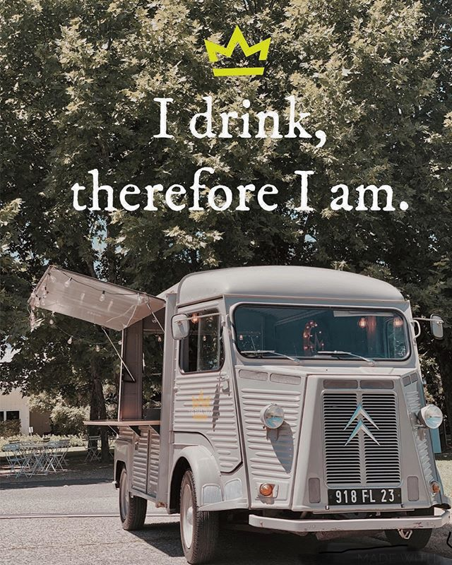 """""""I drink, therefore I am."""" - The Duke.... This has to be one of my favorite Duke quotes!!! 😆 #dukewisdom ❤️🍸❤️🍸❤️🍸 #dukessowise  #mobilebar  #cocktailtruck #winetruck #citroenhy . . #napafoodtruck #napaweddingplanner #sonomaweddingplanner #sonomafoodtruck #foodtruckwedding #californiafoodtruck #californiafoodtruckwedding #bayareaweddjng #bayareafoodtruck #arizonafoodtruck #arizonafoodtruckwedding #winetruck #napafoodie #arizonafoodie #foodie"""