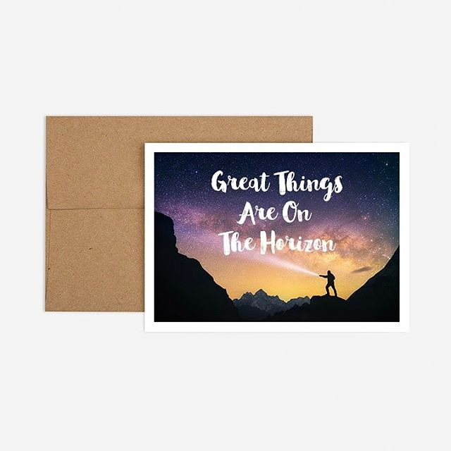 Great things are on the horizon. #birthdaycard #adventure #saltyk9