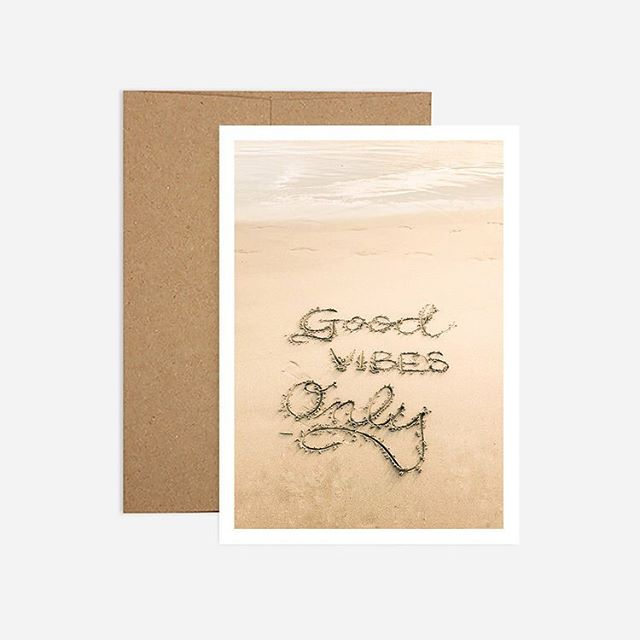 It's almost the weekend. #goodvibesonly . . . . . . #beach #birthdaycard #design #madeincalifornia #greetingcard #madeinusa #papergoods #stationery #recycled #madeinusa #ocean #recycledpaper