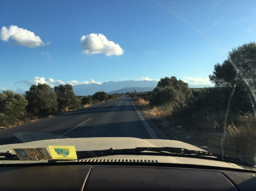 The drive toward Chania from our house