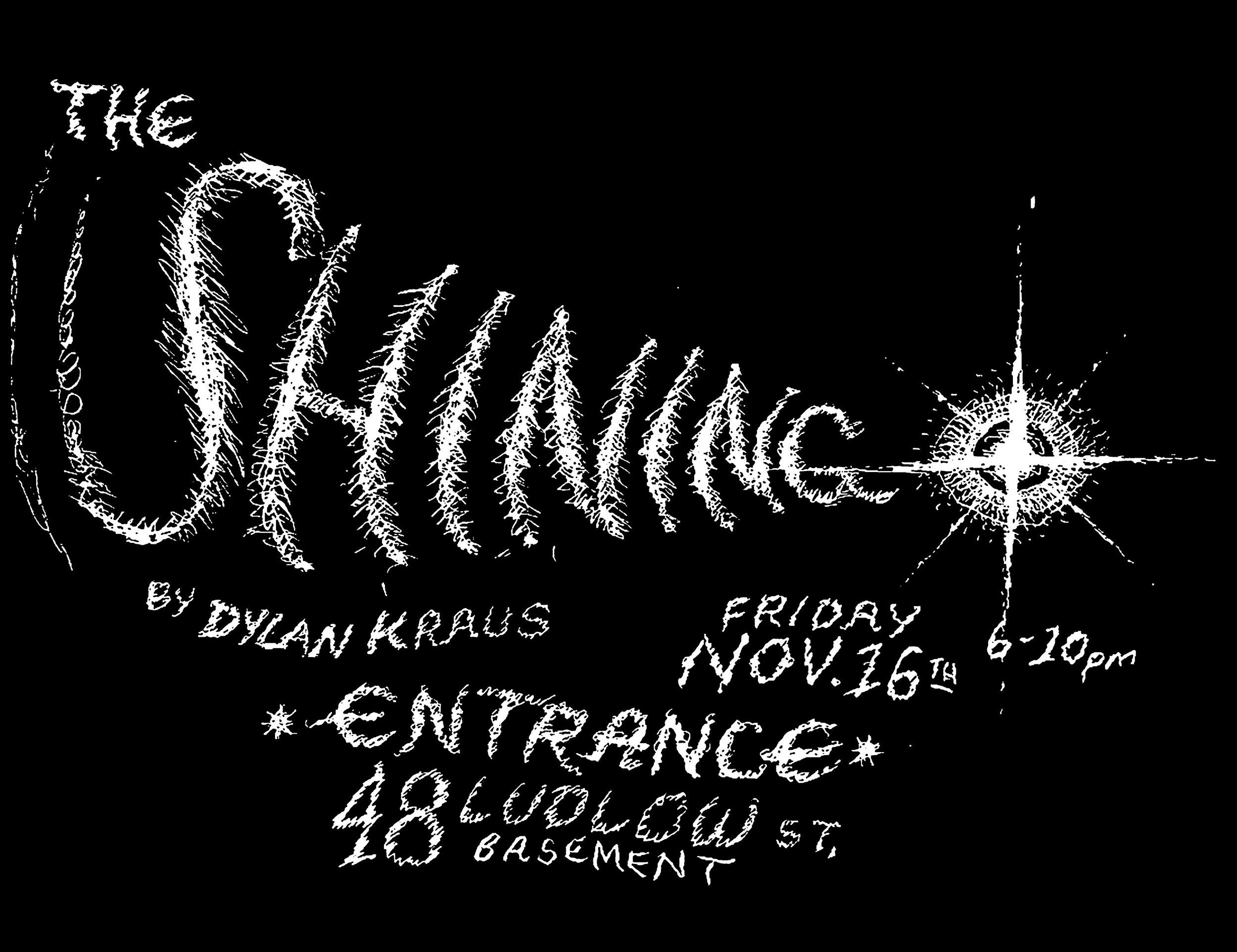 Dylan Kraus, The Shining  - November 16 - December 20, 2018Add to: Google Calendar iCal
