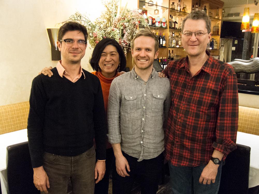 Colin with his mentors: David Teague, Jean Tsien, A.C.E., & Jonathan Oppenheim