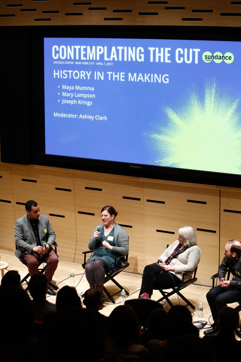 Ashley Clark, Maya Mumma, Mary Lampson and Joseph Krings. © 2017 Sundance Institute | Photo by Ryan Kobane