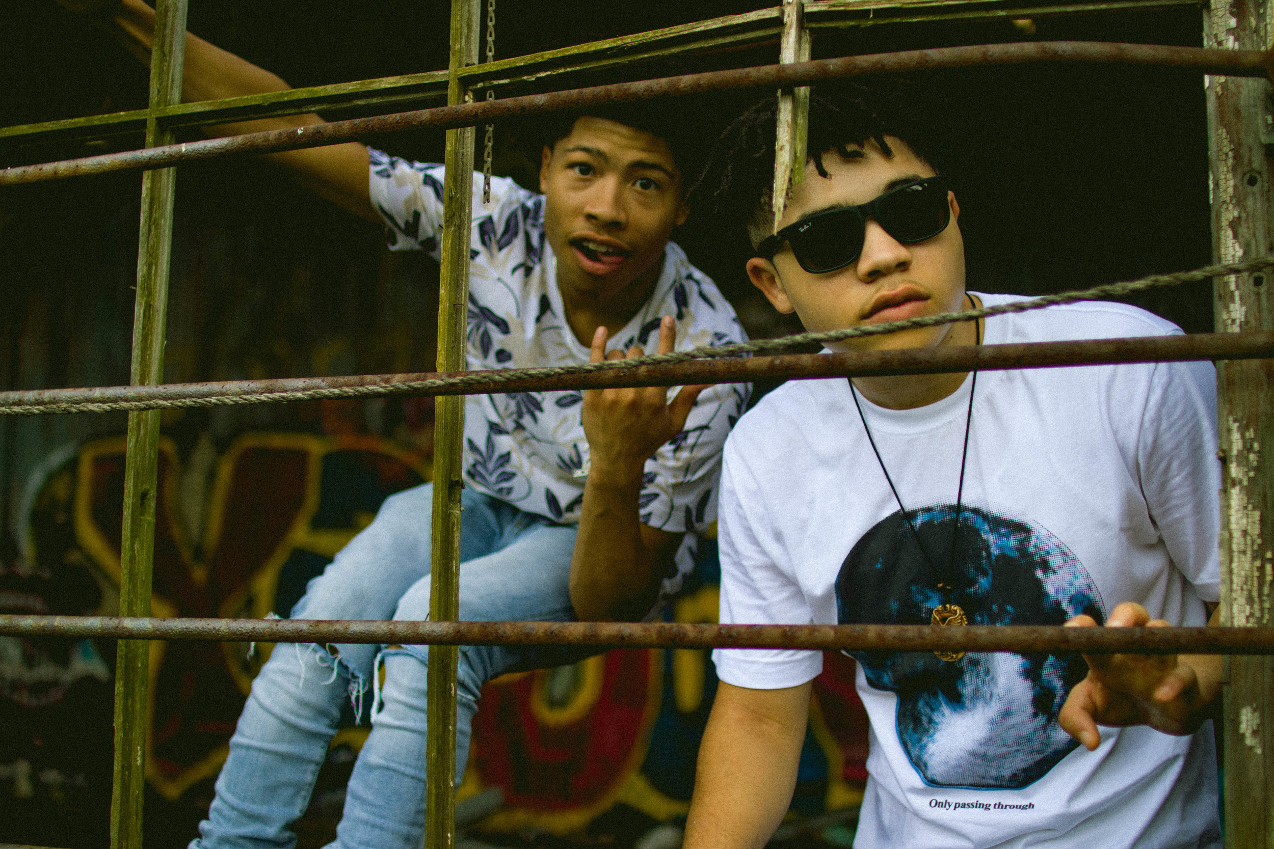 JR  (left) and  Chezz  (right), captured by  Ashlyn Baldwin .
