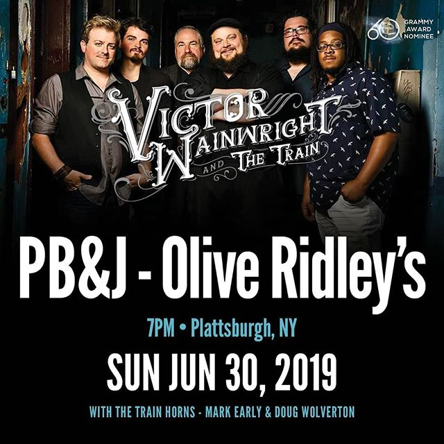 Tomorrow Night!! Come hang out with  Terrence Grayson, Pat Harrington, Billy Dean ,Mark Earley Doug Woolverton and Victor Wainwright II at Olive Ridley's . Grab a ticket before they are gone at www.plattsburghbluesandjazz.com