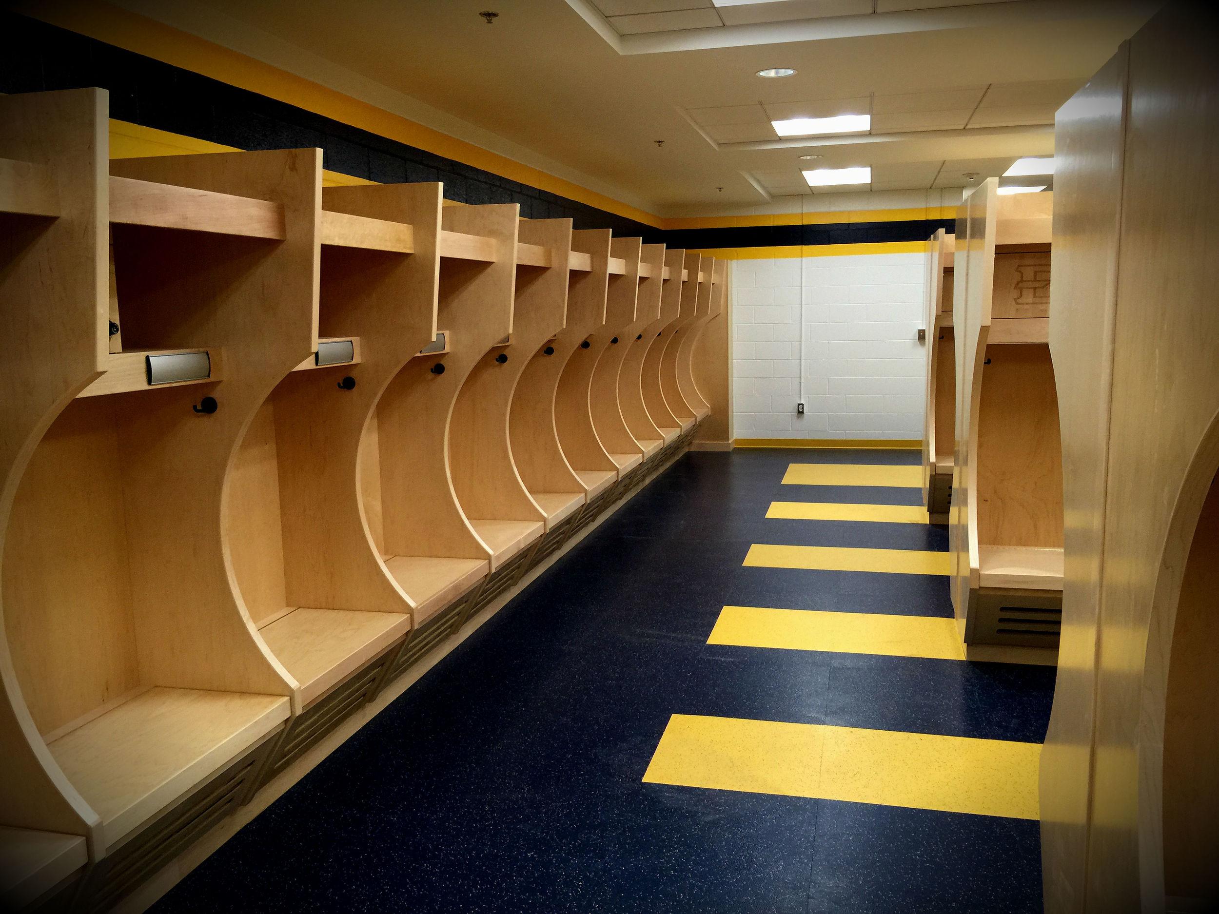 ETSU Football Program Locker Rooms