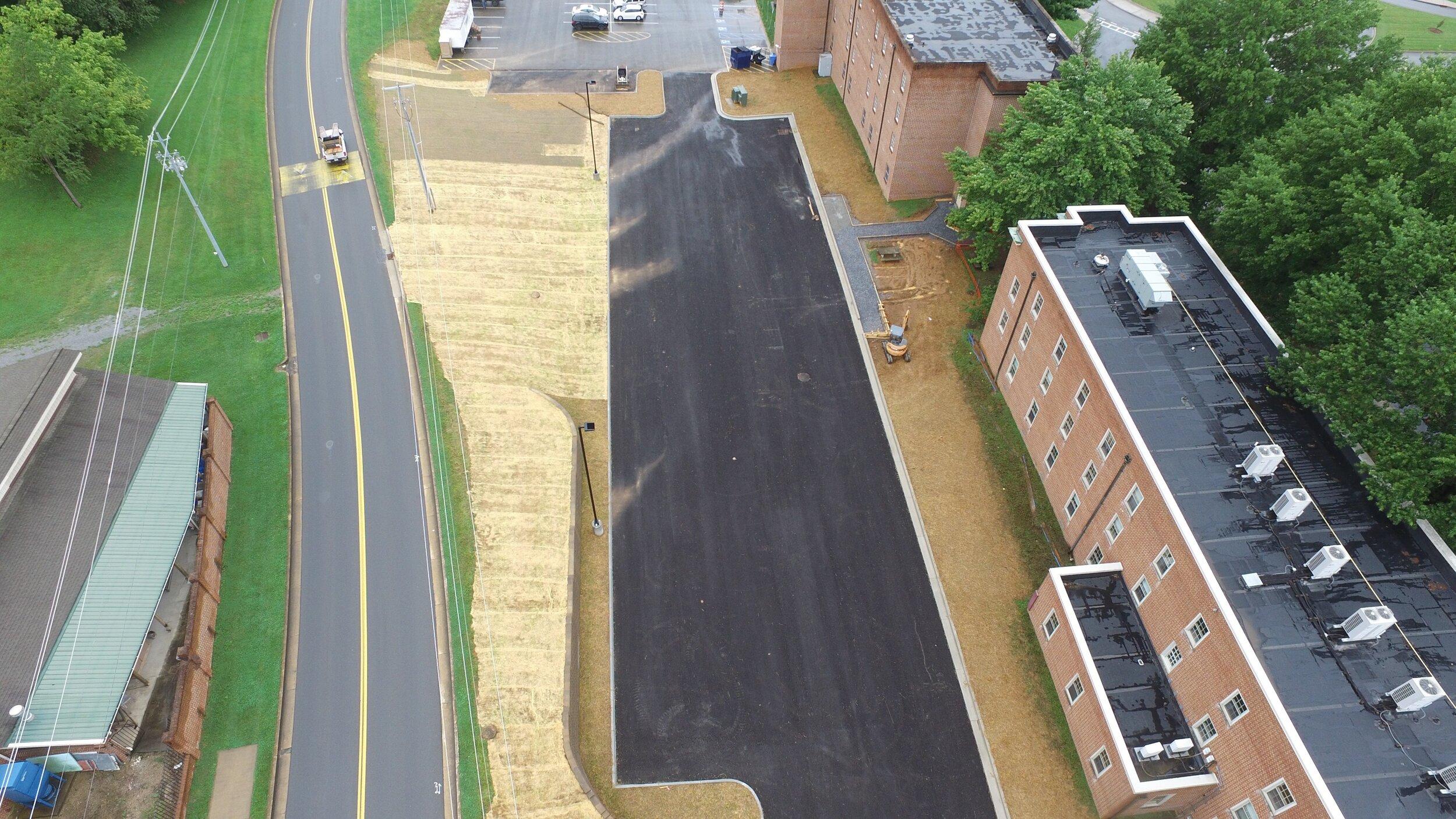 ETSU Dossett Parking Lot