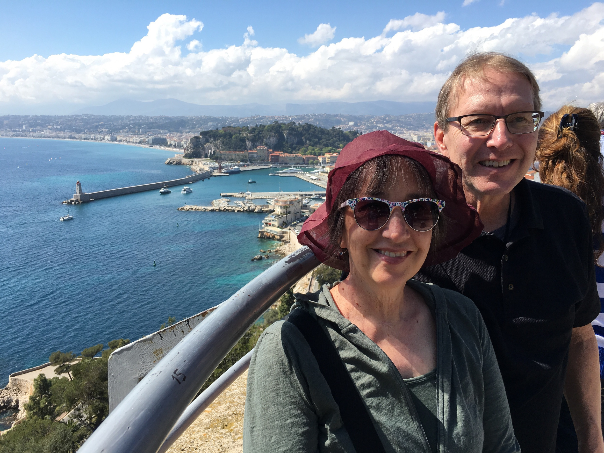 Me and the honey in Nice. Like my hat? Sure you do. Bought it in St Paul de Vence...just up the road.