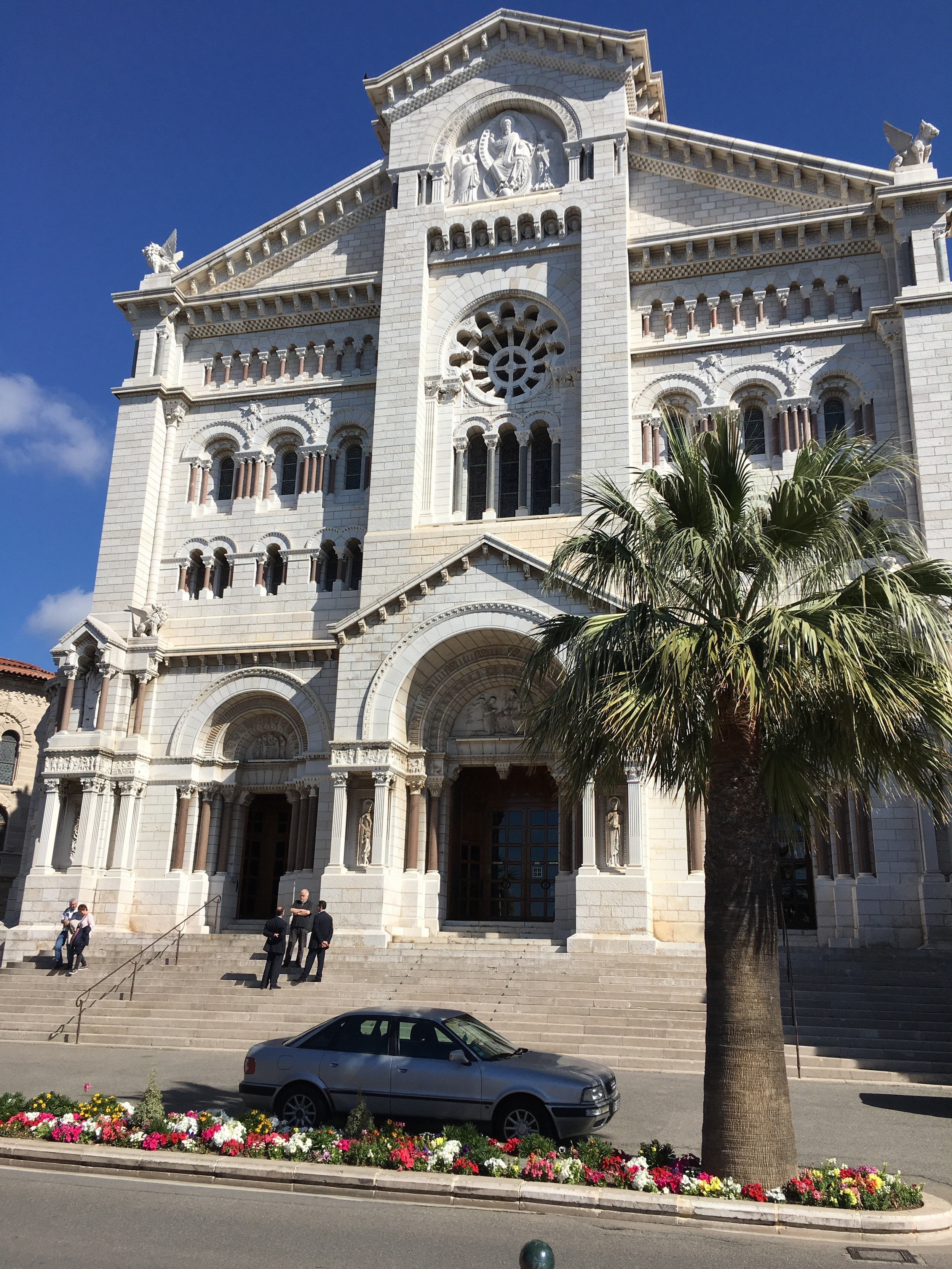 The cathedral in Monaco. It's small, and plain, but hey, all the Grimaldis are there.