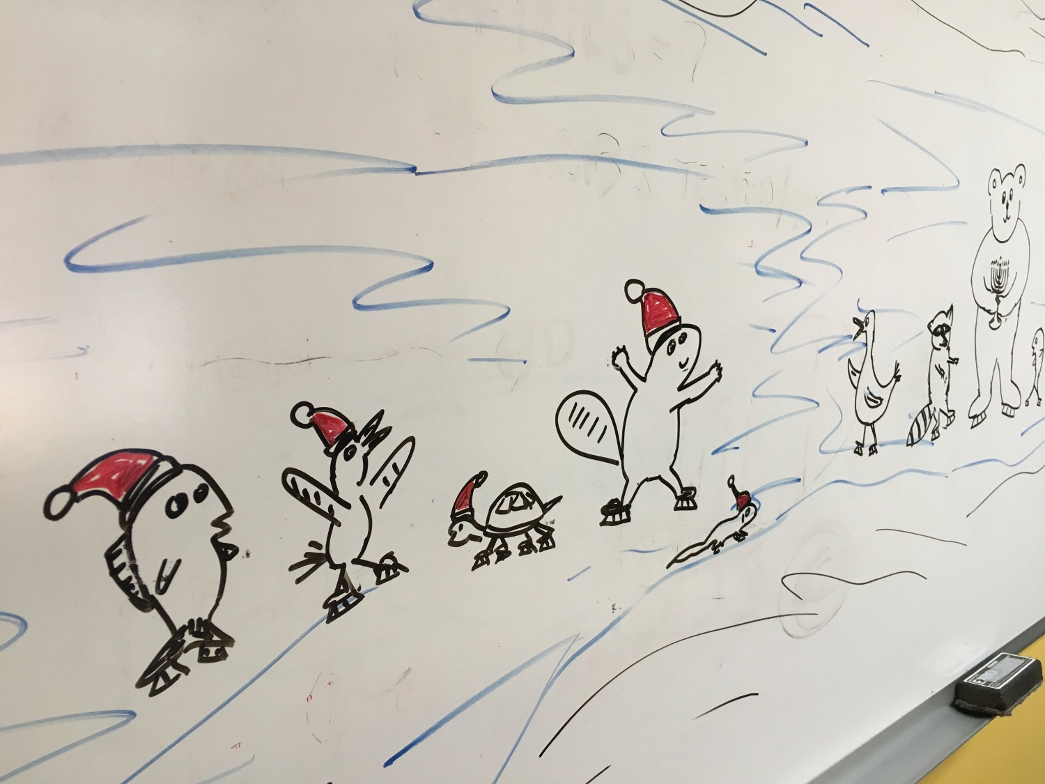 Big-ass whiteboard at work, cries out for some fun time-wasting activities. Other than meetings.