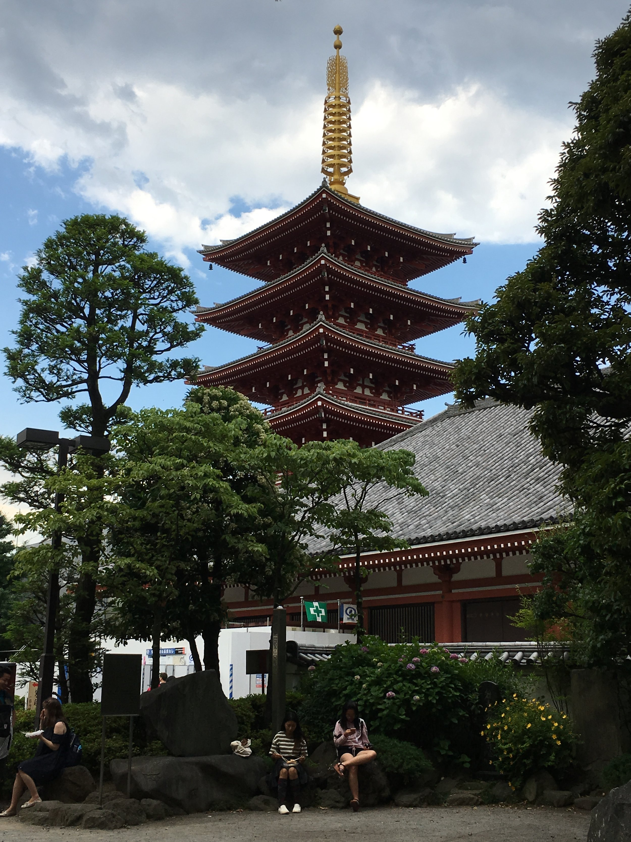 View of the Sensoji pagoda