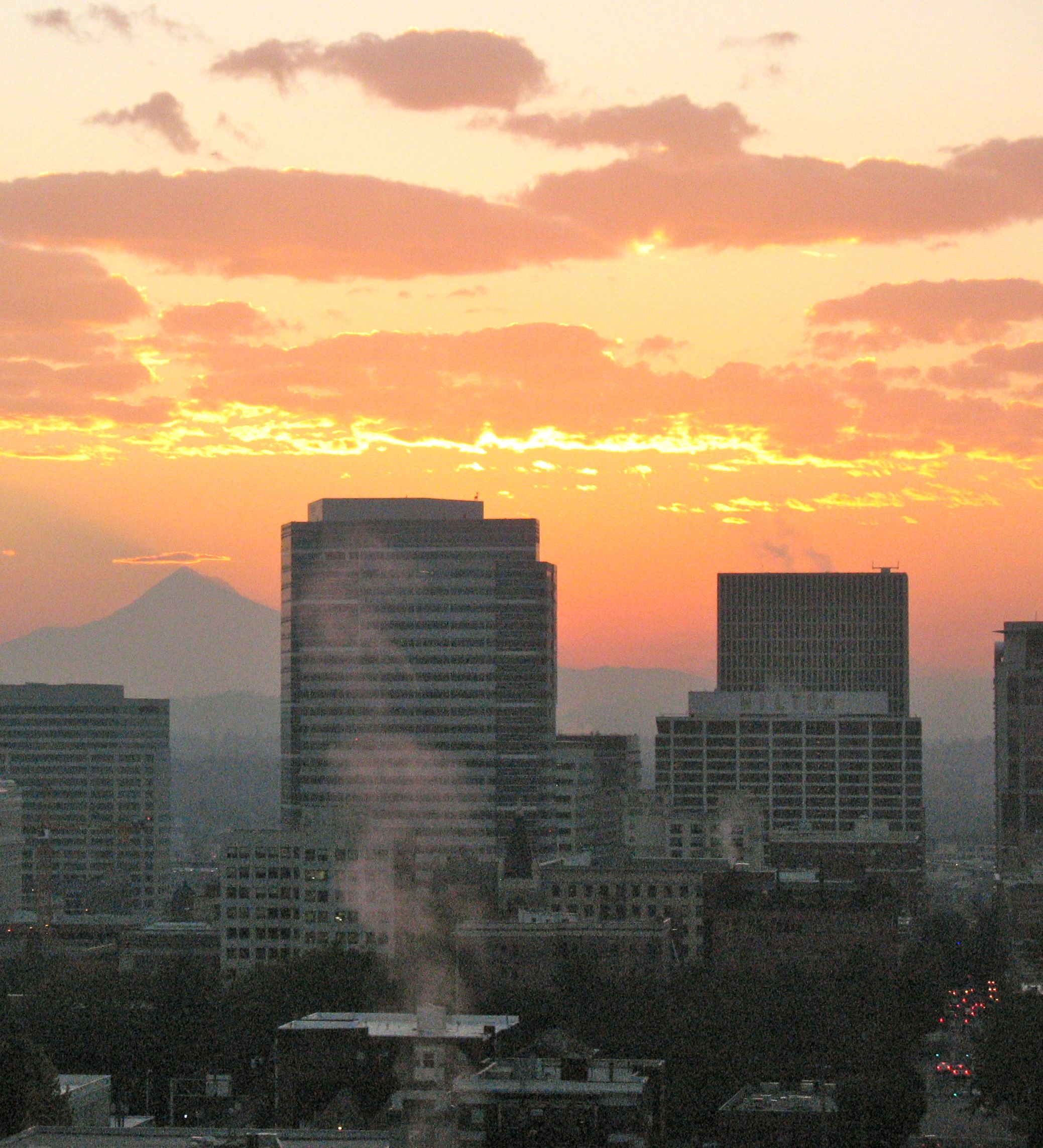 Portland is far from New York City where both my husband and I were born, butthe view from our living room is inspiring.