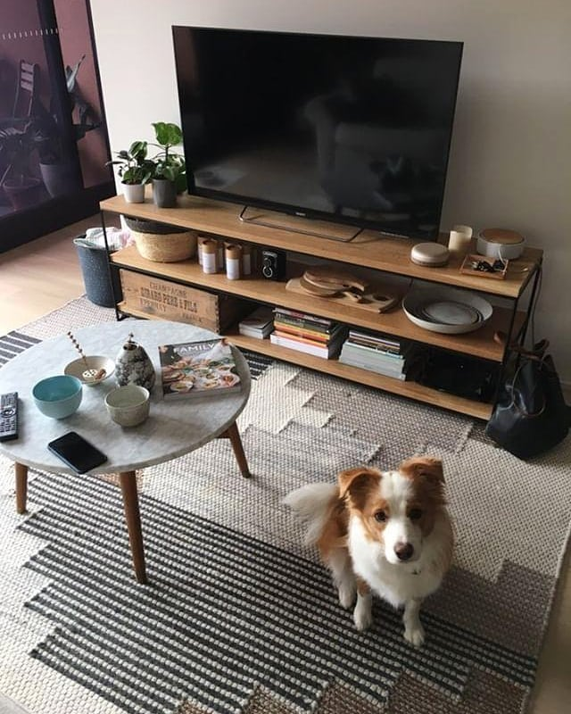 Our favourite customer of all 🐶 Matching your furniture & fur babies is a trend we're definitely on board with. Ari seen here with a custom version of our Porter Bookshelf in American Oak for J&M.  #resoandco