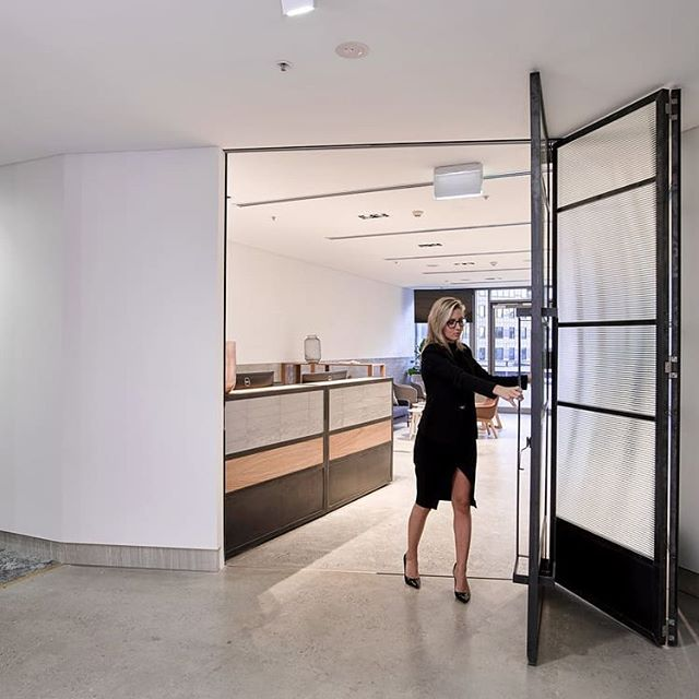 From the archives: Custom fabricated bifolding doors for Dexus Place.  Did you know that we're also licensed metal fabricators?  From custom doors, gates, balustrading to furniture and everything in between, we can make it happen 💪 hit us up via our project planner on our website or simply send us an email to chat deets.