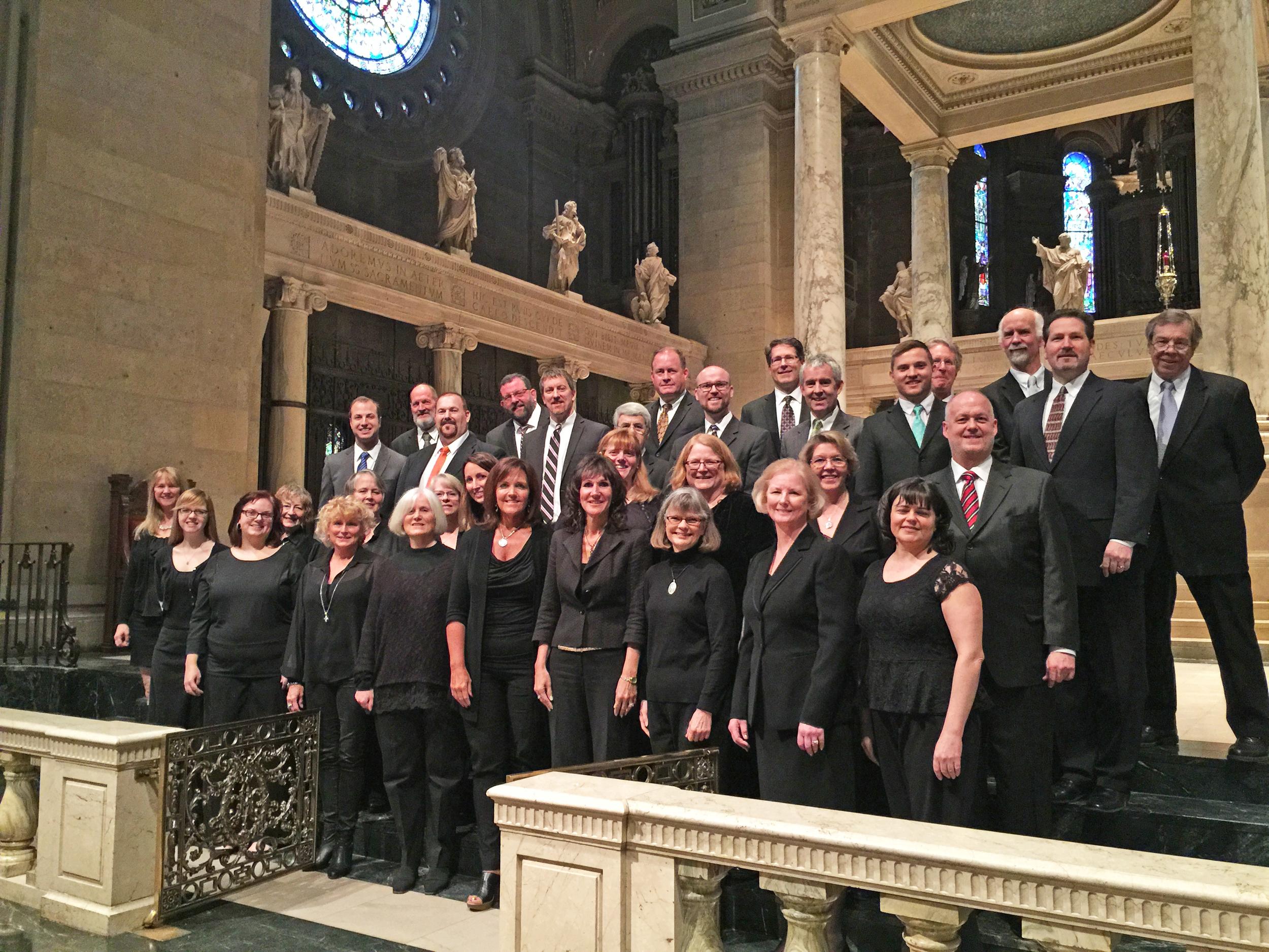 The Bemidji Alumni Choir at the Basilica of St. Mary, Minneapolis, 2015