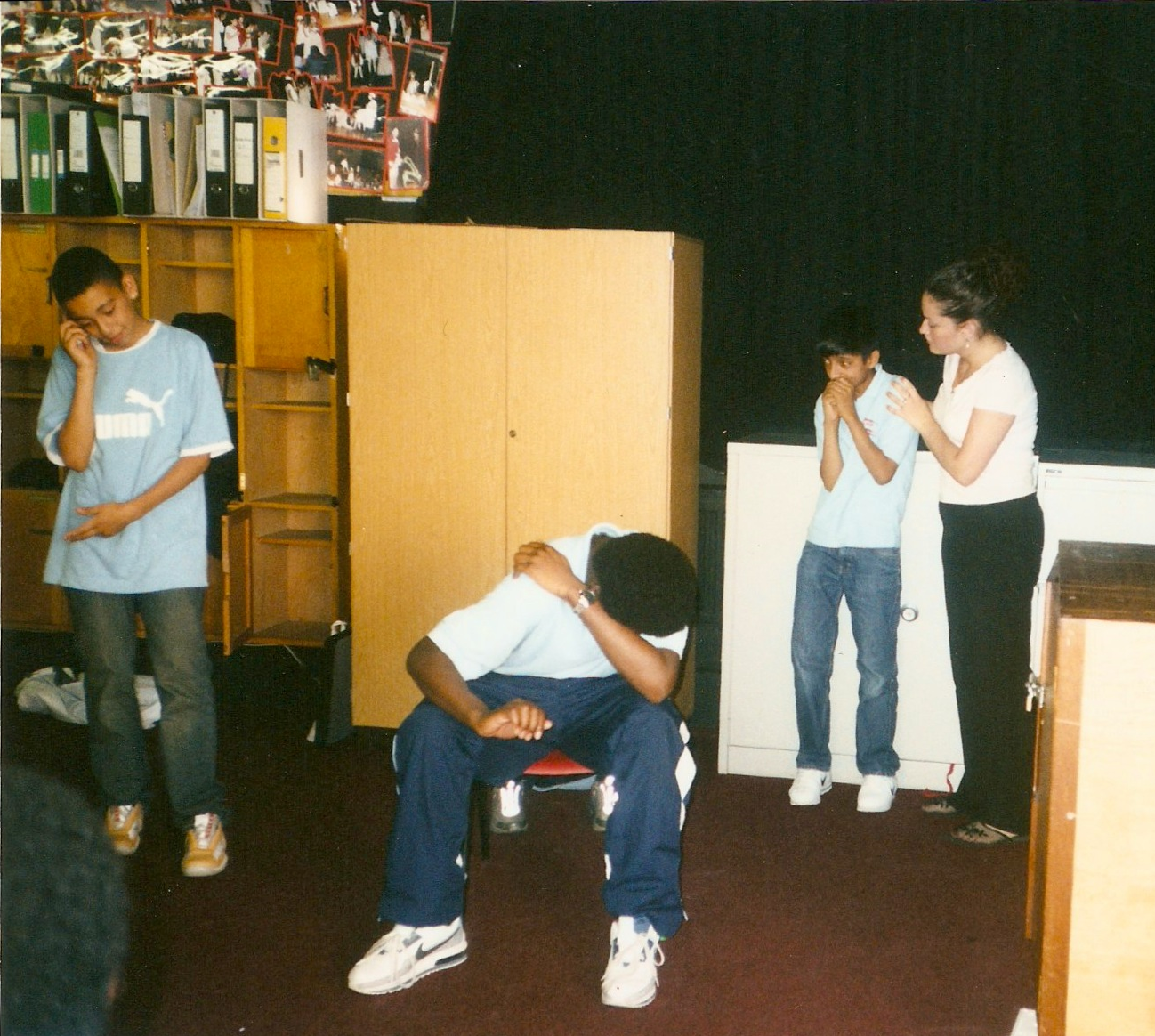 Teaching Drama in london many moons ago.