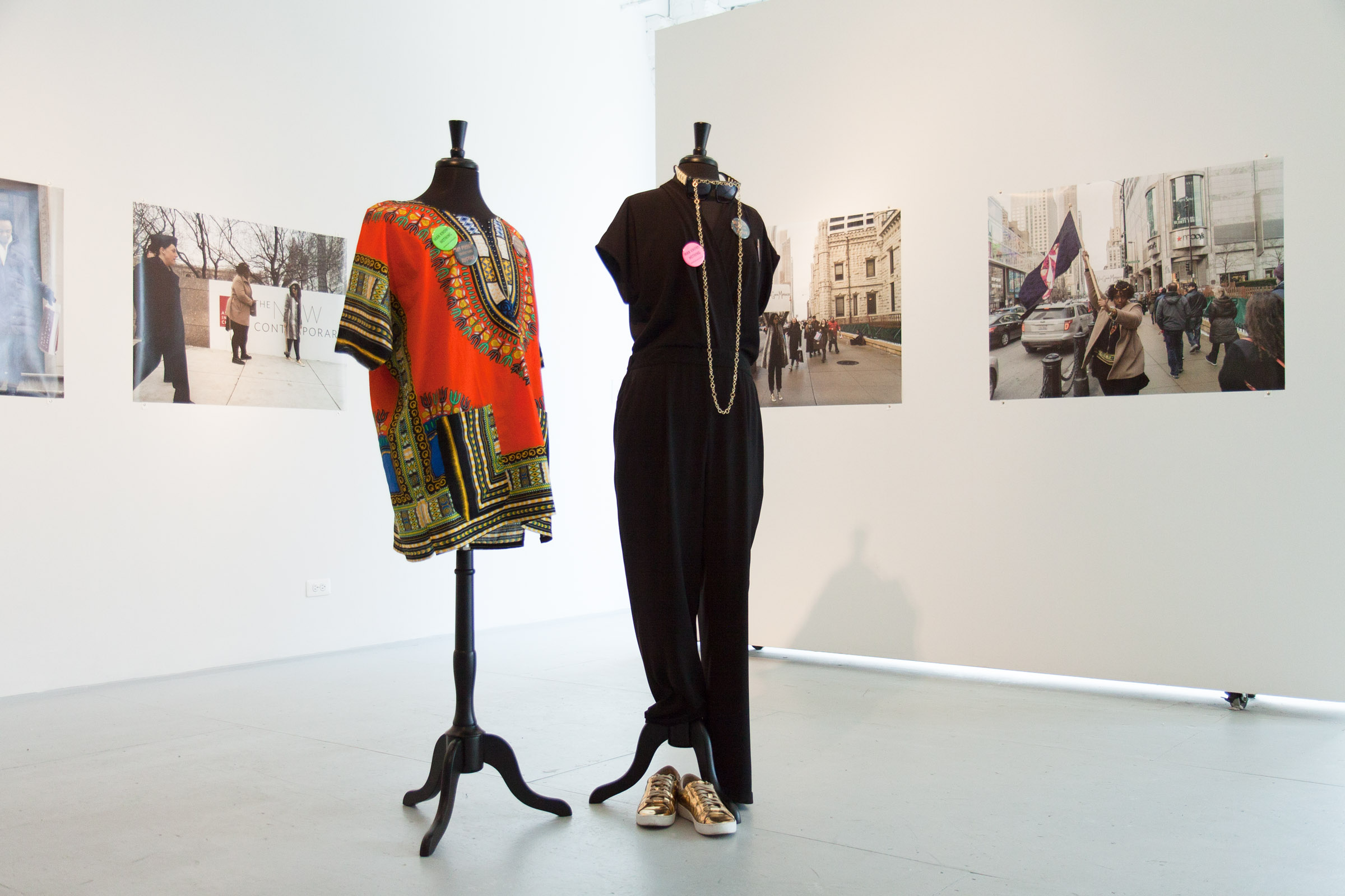"""For #NewGlobalMatriarchy, Stephanie Graham and Maya Mackrandilal present a series of performances and events that imagine radical black femme futures. The two perform as ancient goddesses who have become incarnated in contemporary US-hegemonic culture, a world of reality television, instagram celebrity, and hyper-sexualization. By inhabiting the visual language and logic of consumerism and voyeurship, the goddesses infiltrate imperialism on its home turf, imbuing the mundane and familiar with moments of radical imagination. What does it mean to be a strong woman with friends in a culture that can only imagine female sexual competition for the ever-elusive """"good man""""? How can we construct narratives that sabotage a culture that devalues black life, the labor of women, and commodifies queer desire? Is it possible to seduce the oppressor into relinquishing his power?"""