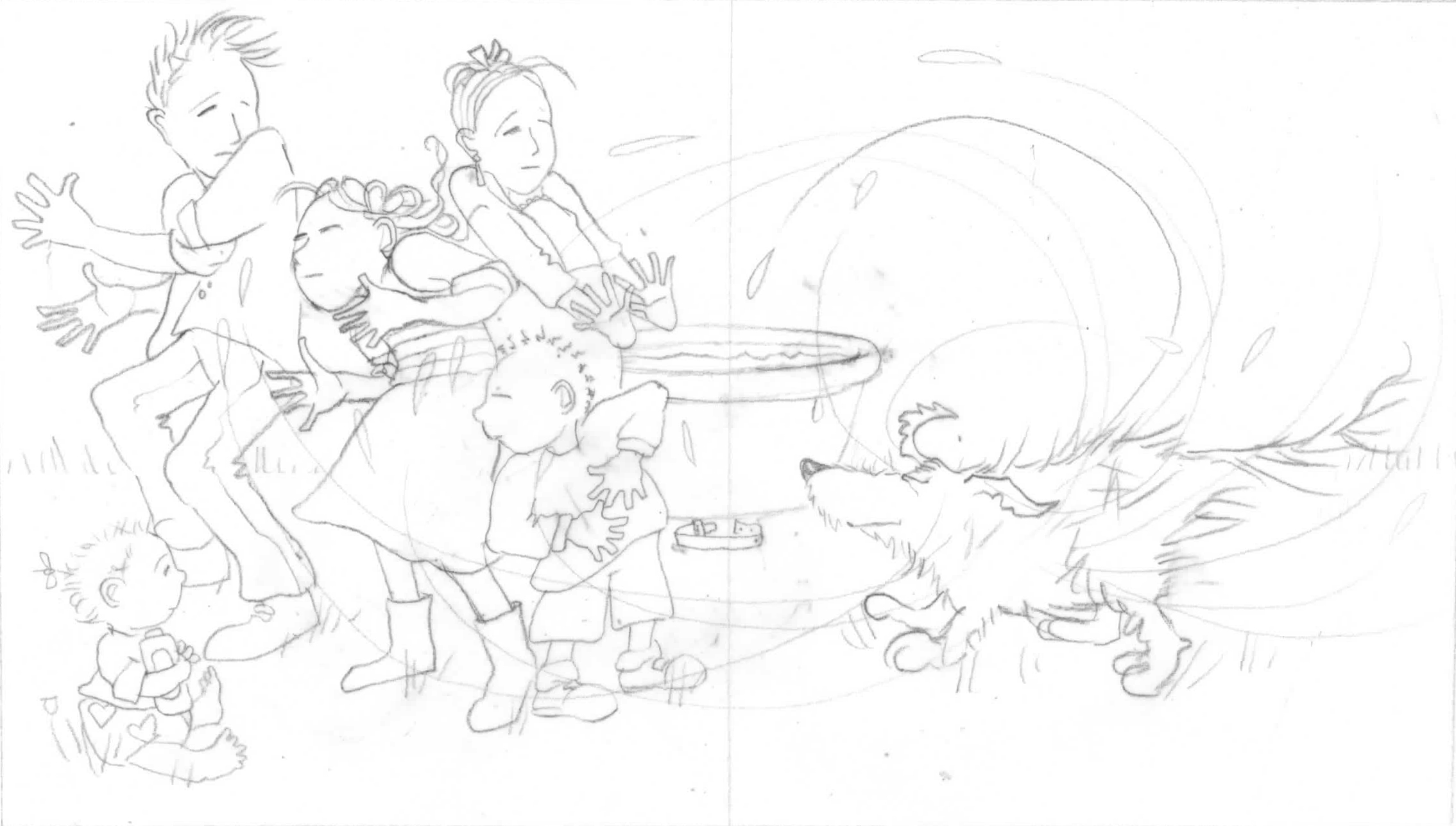 Preliminary  drawing for Clementine's Bath.