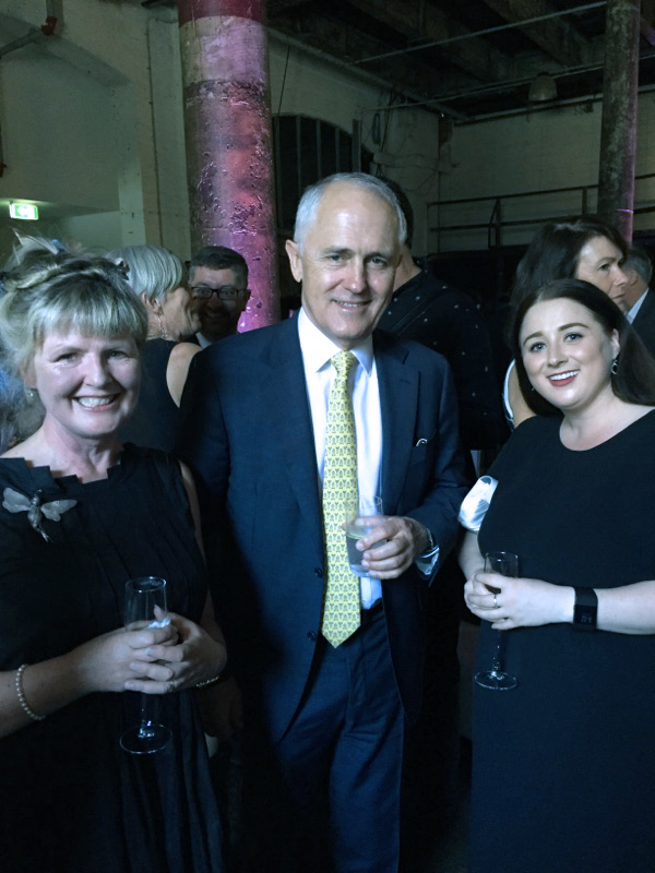 Annie, Malcolm and Nicola at the awards