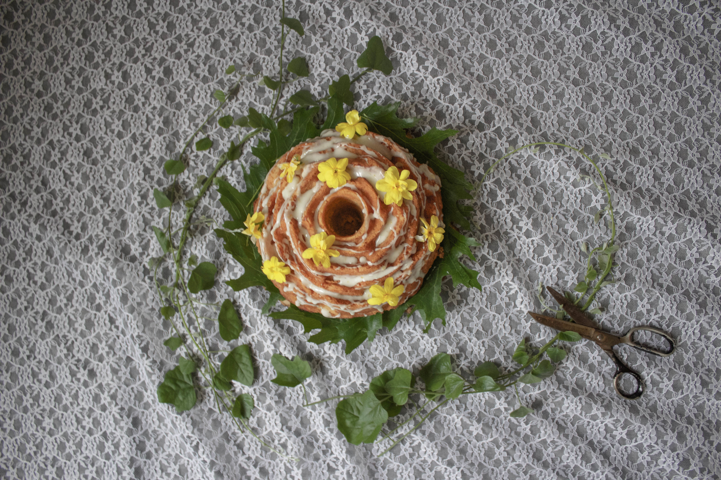 Vanilla Bundt with Orange-Rose Glaze