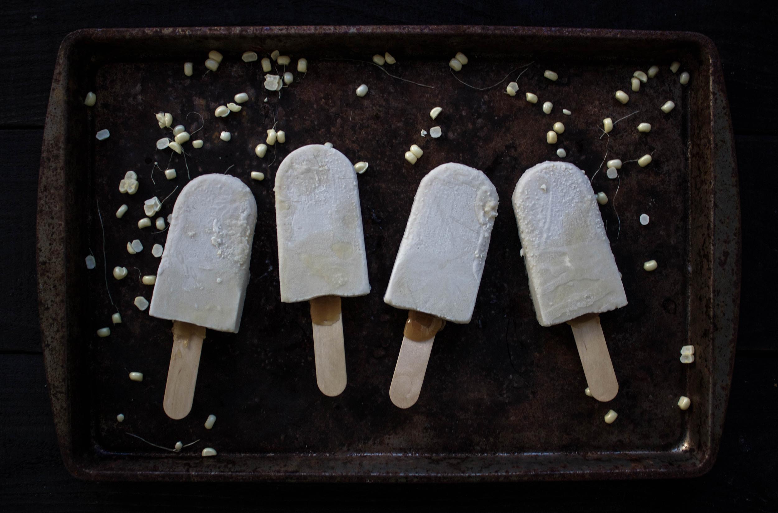 Caramel Corn Popsicle