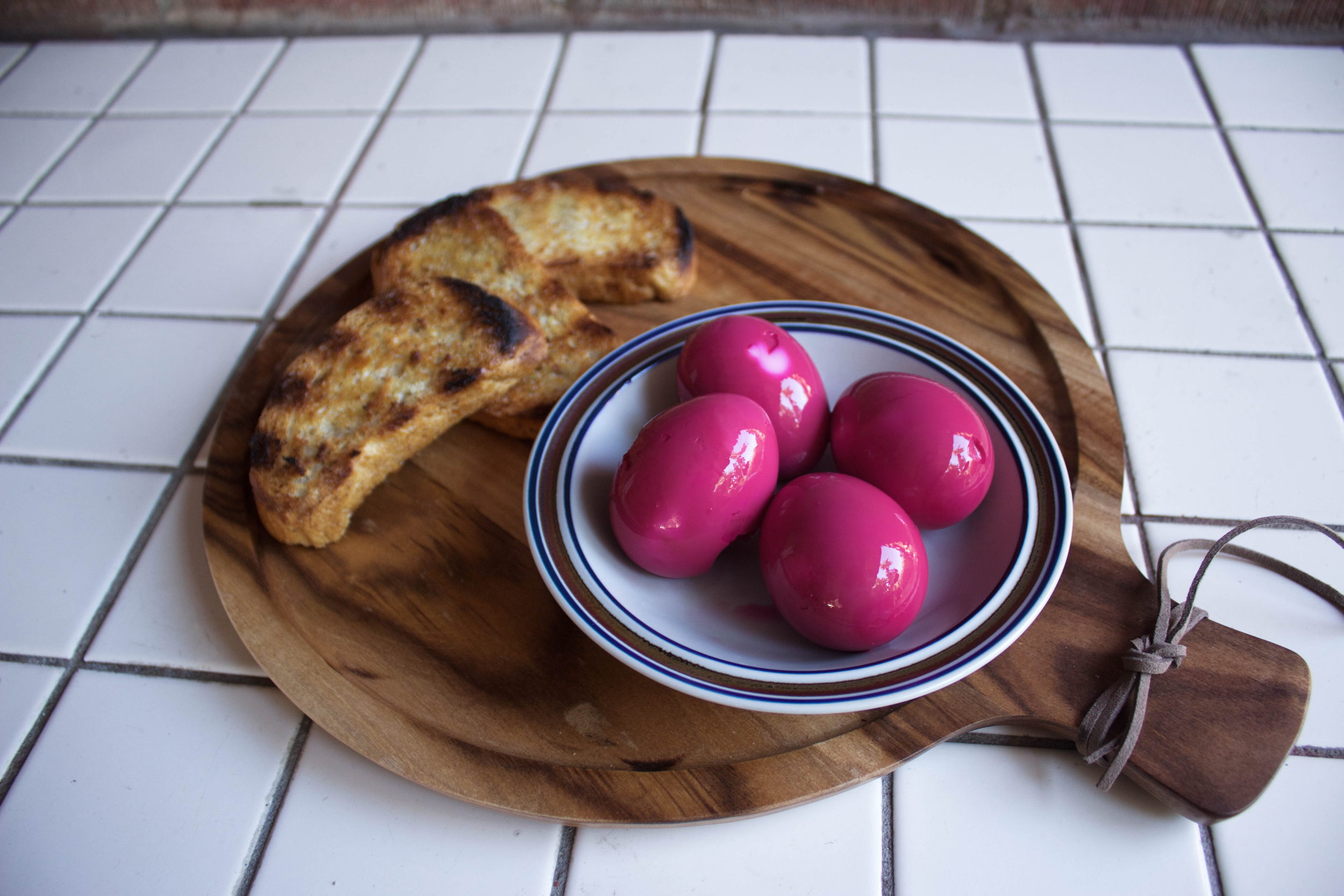Dutch Beet Egg Salad Tartines