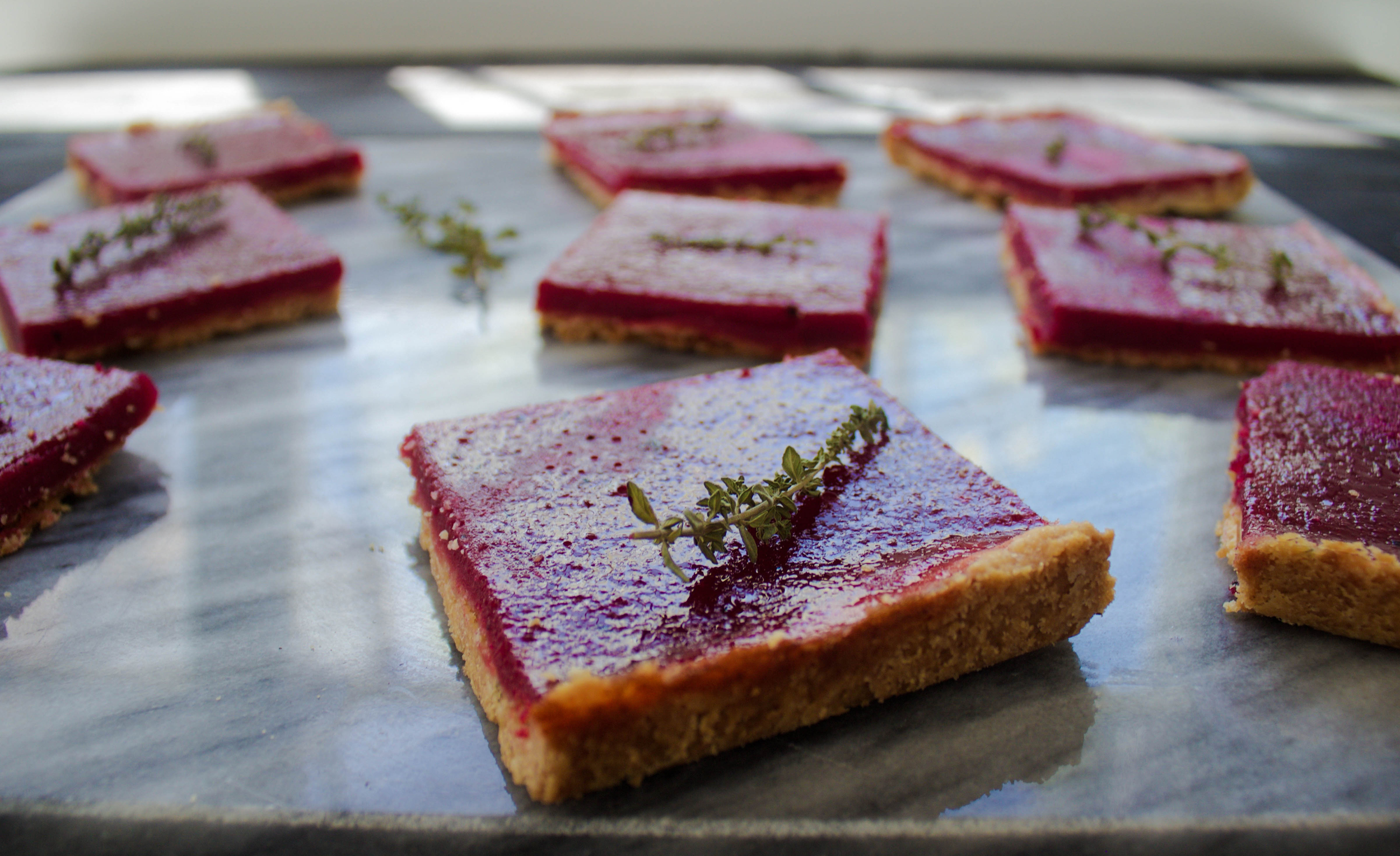 Beet Lemon Bars