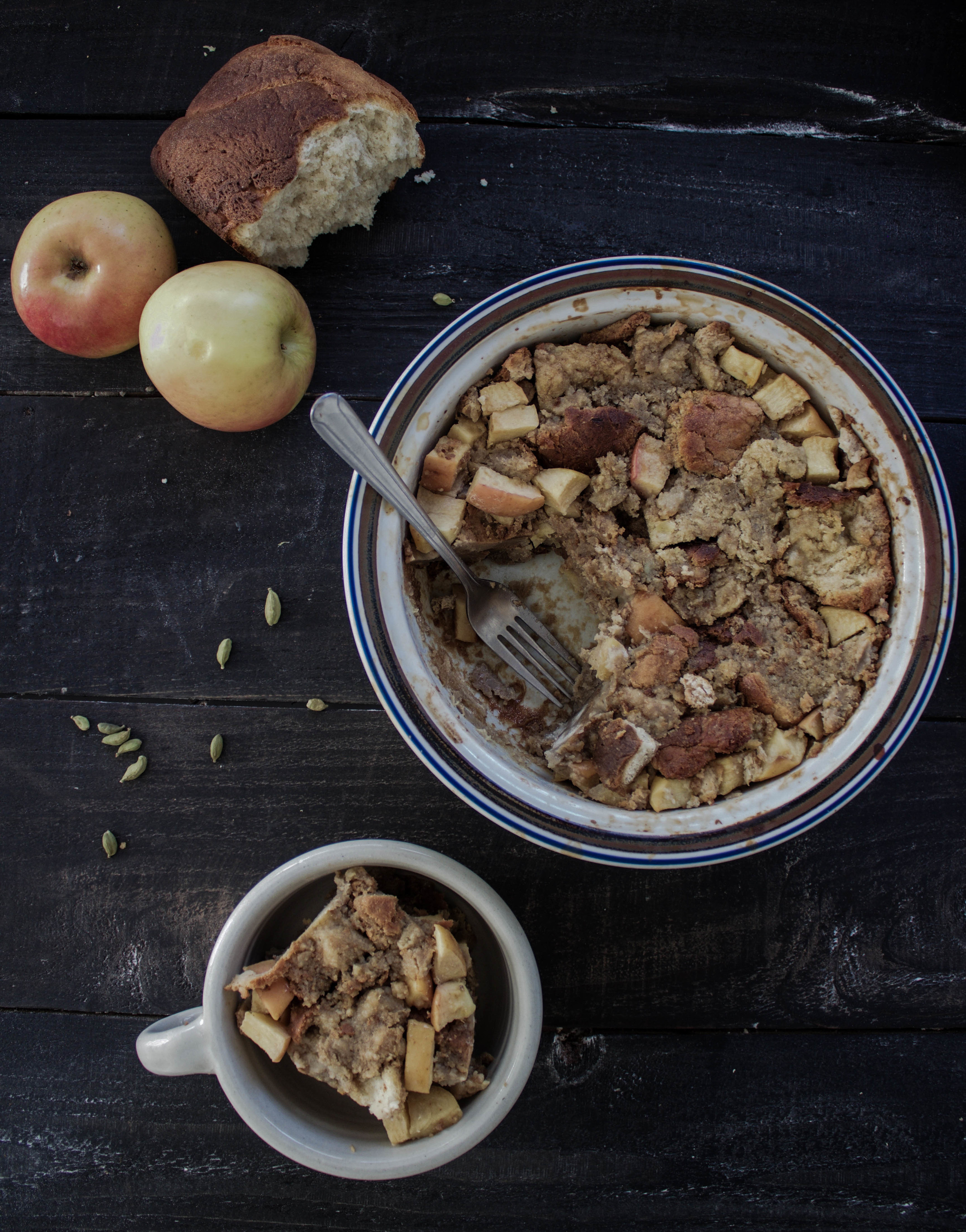 Apple Chai Bread Pudding