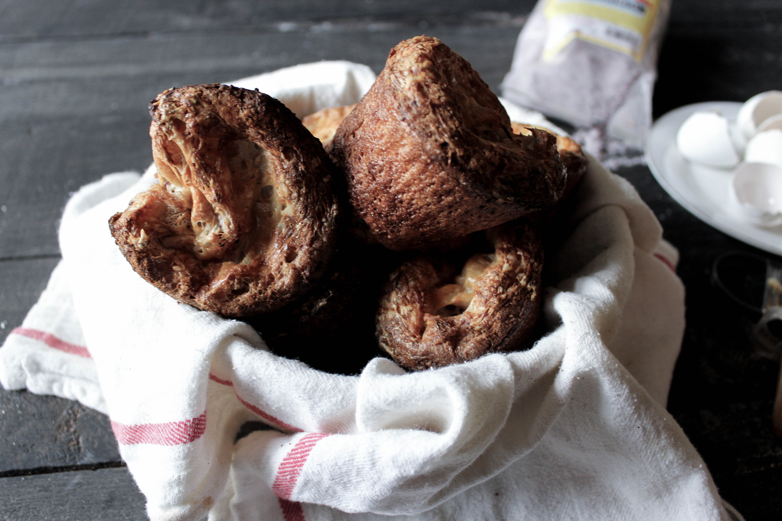 Blue Cornmeal and Smoked Cheddar Popovers