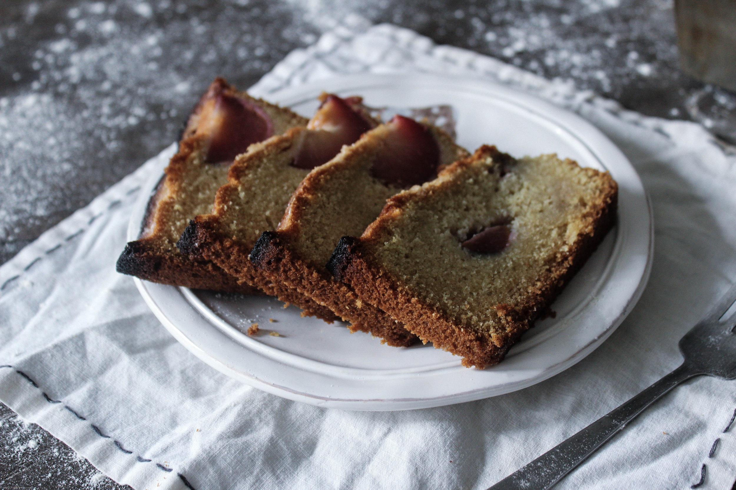 Almond Plum Loaf