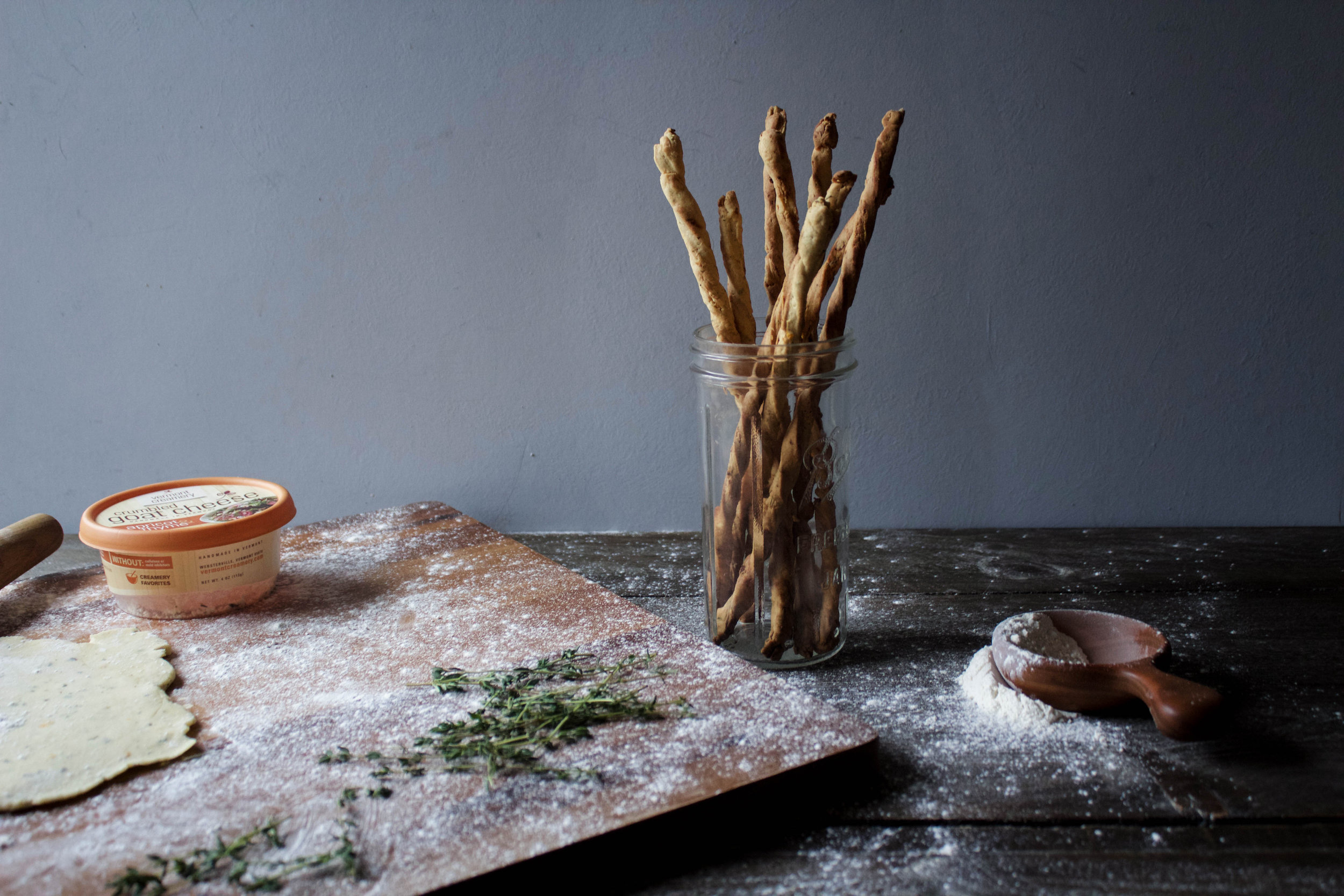 Herbed Goat Cheese Straws