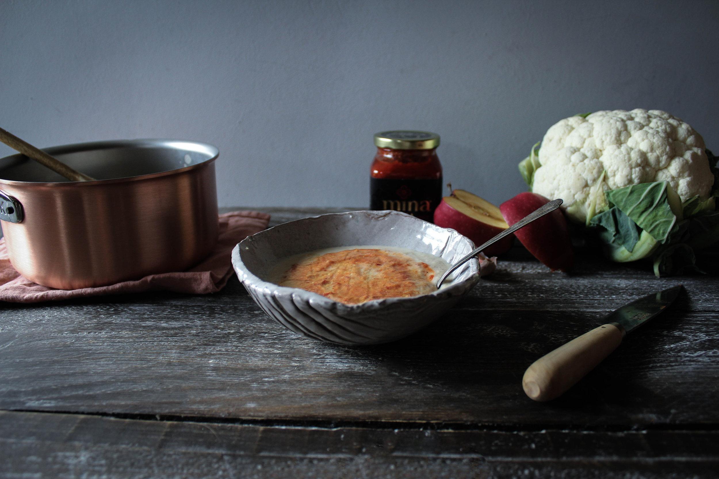 Cauliflower Harissa Soup