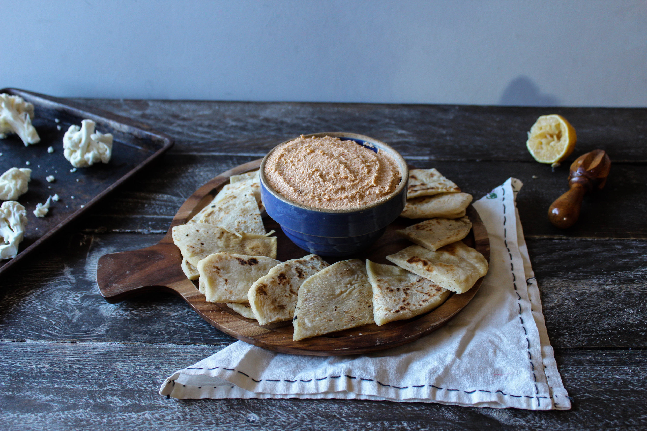 Cauliflower and Harissa Hummus