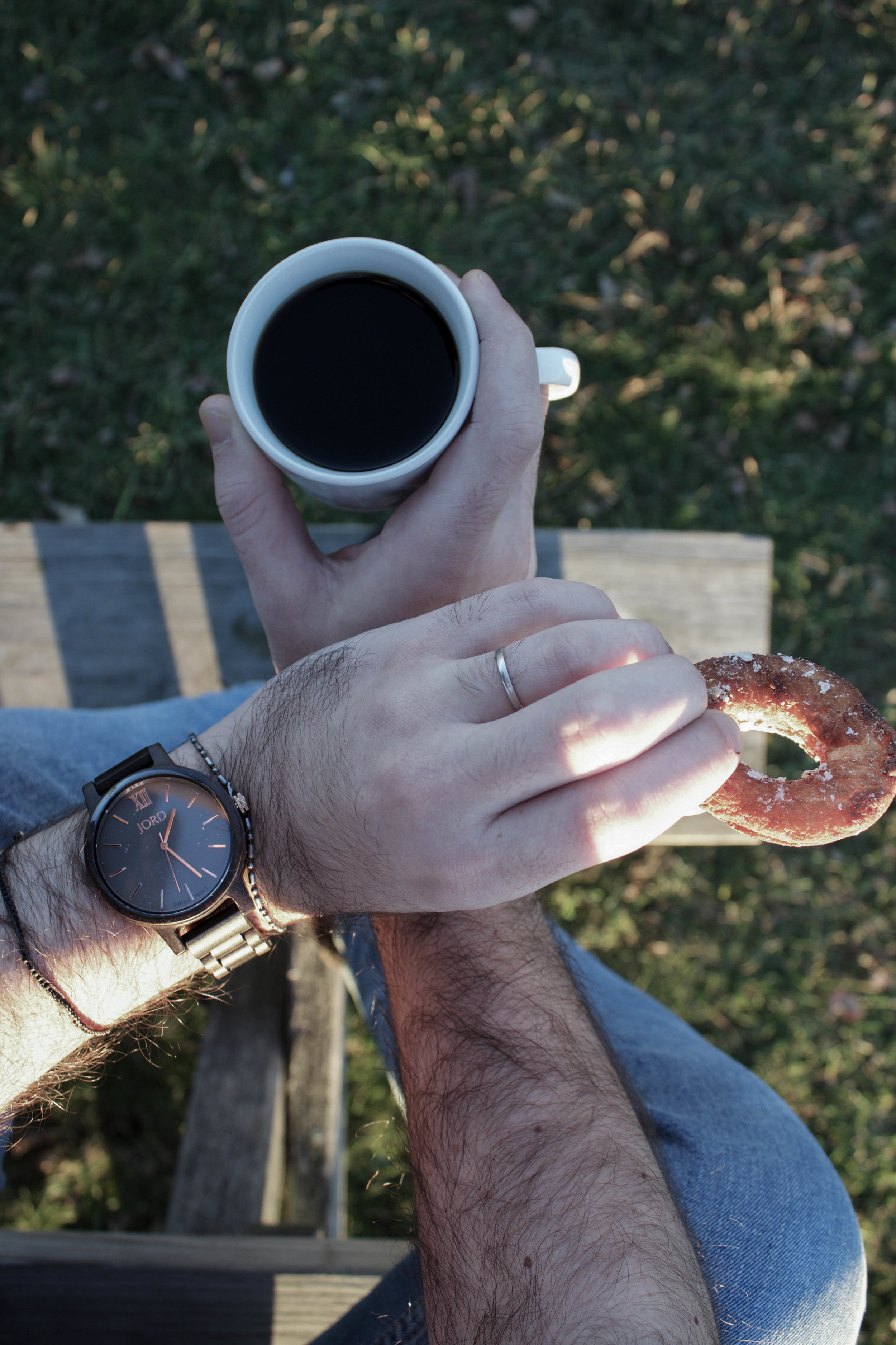 JORD Watch and American Press Doughnuts and Coffee