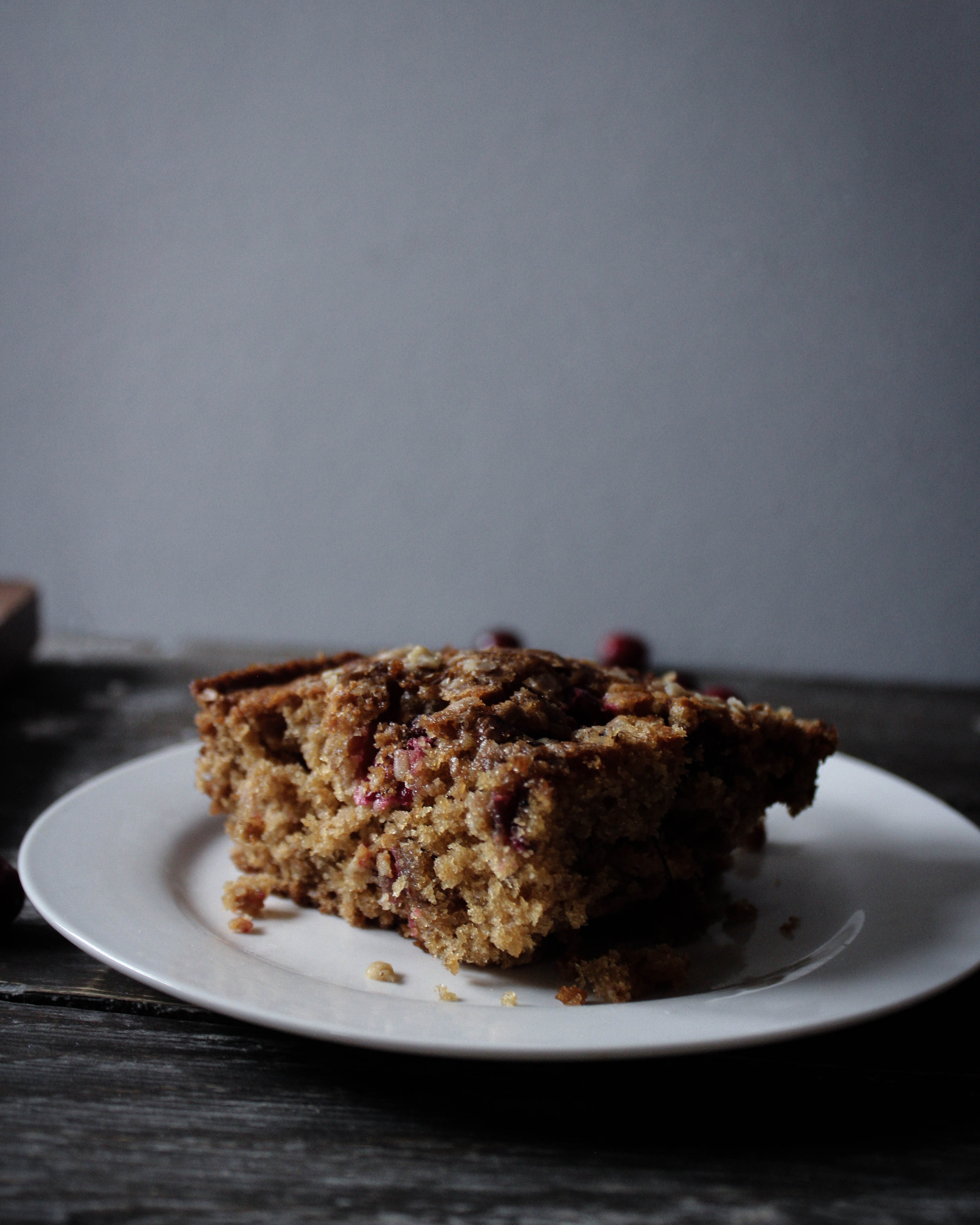 Cranberry Oatmeal Cake