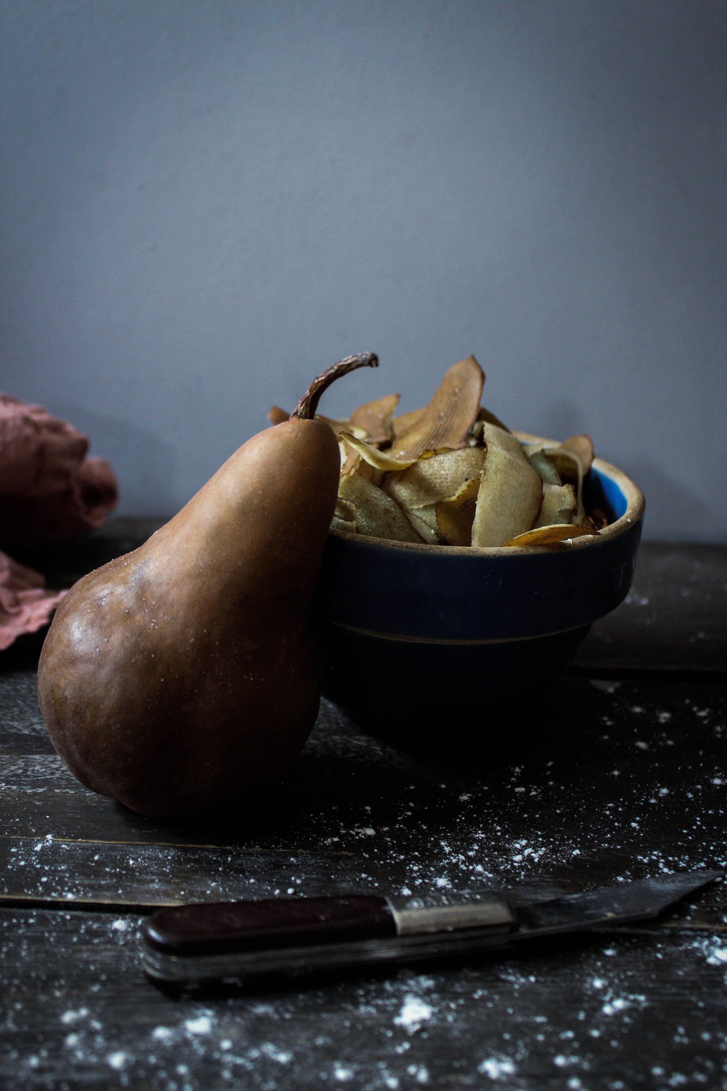 Beer-Poached Pear Cobbler