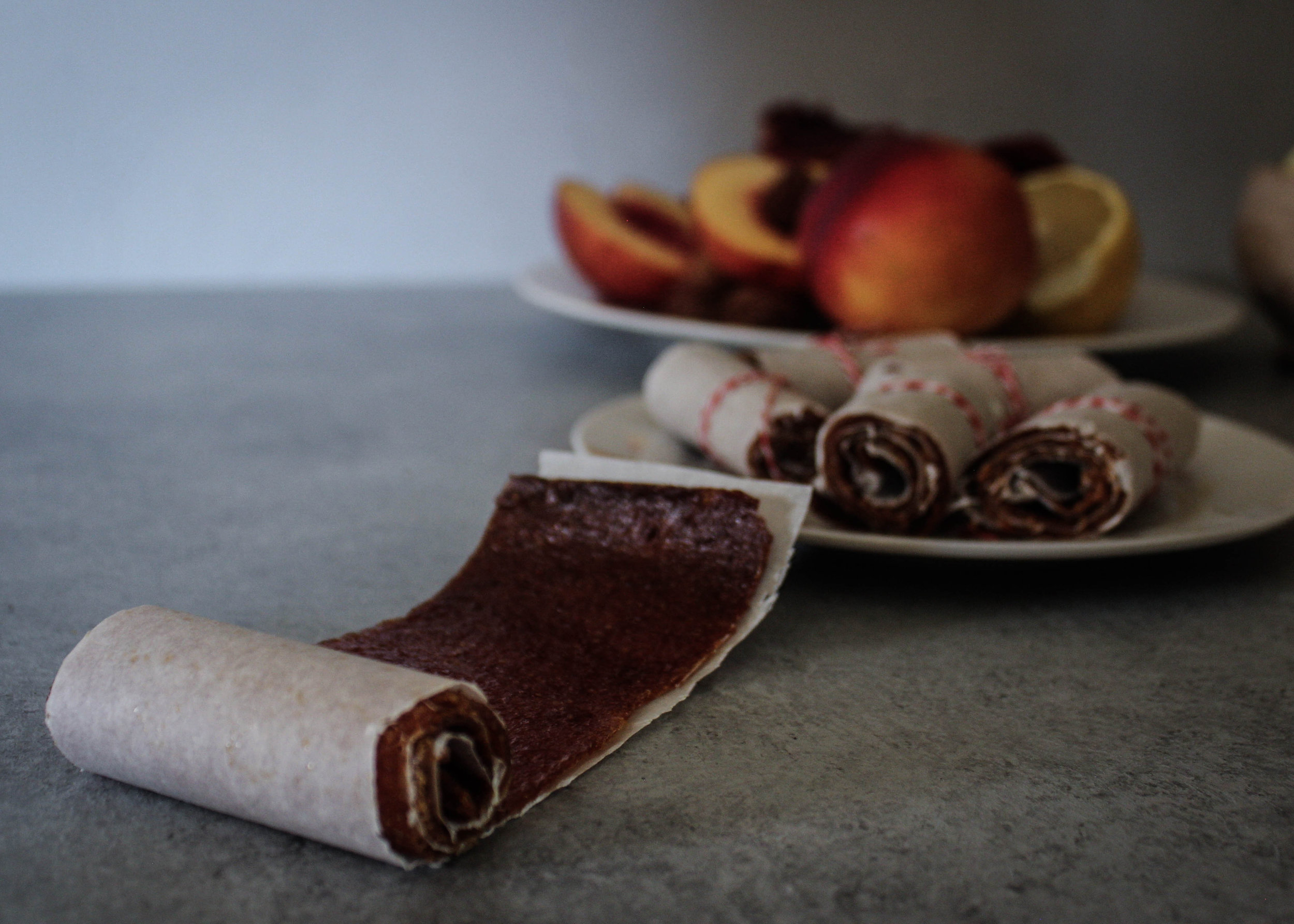Blood Orange and Peach Fruit Leather