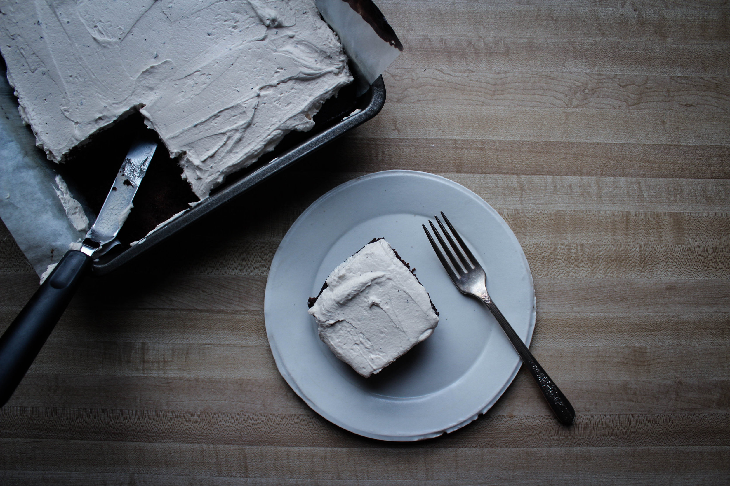 Chocolate Cake with Earl Grey Whipped Cream