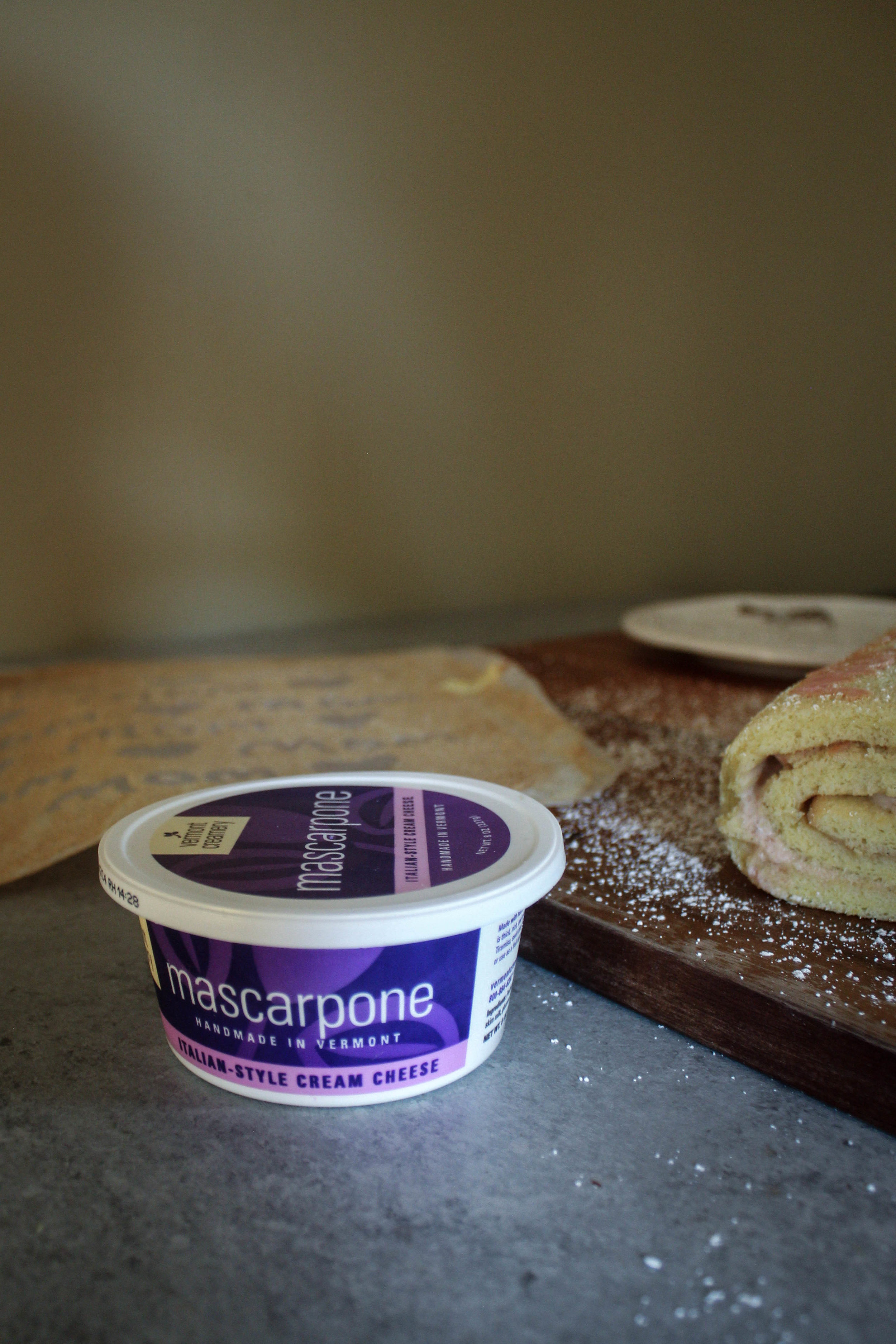 Mother's Day Tattooed Swiss Roll with Vermont Cream Mascarpone Filling