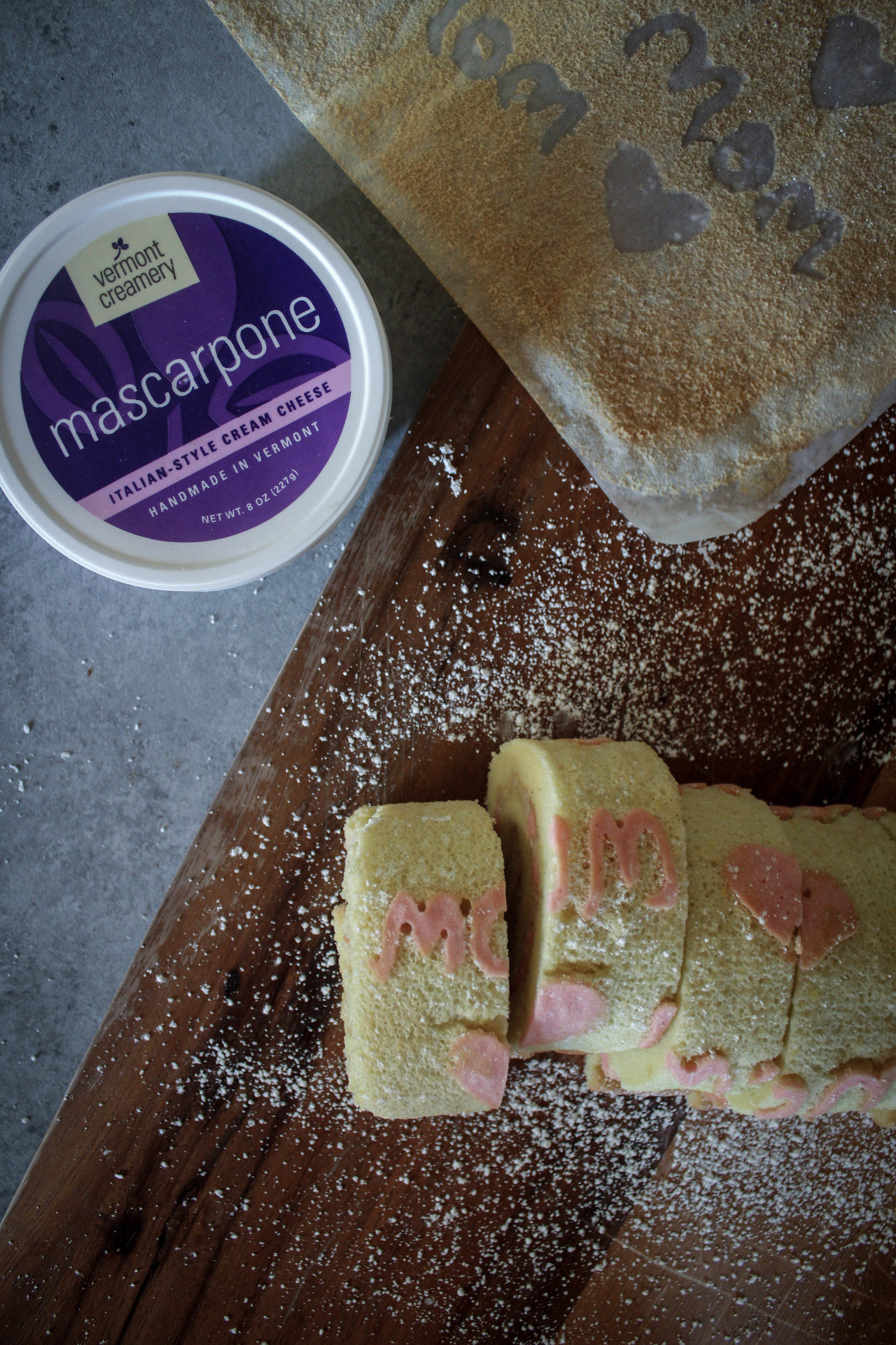 Mother's Day Swiss Roll with Mascarpone