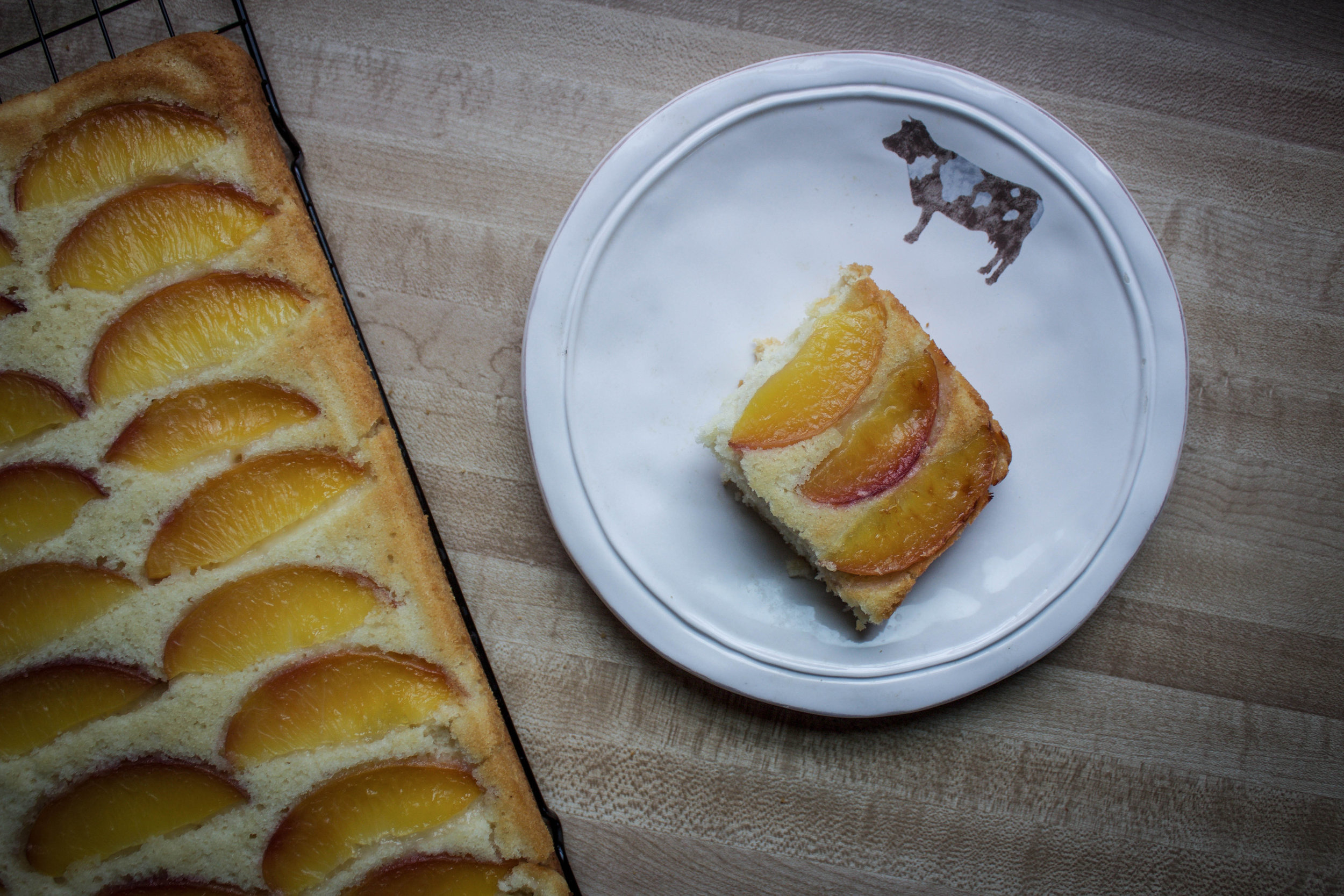 Summertime Peach Sheet Cake
