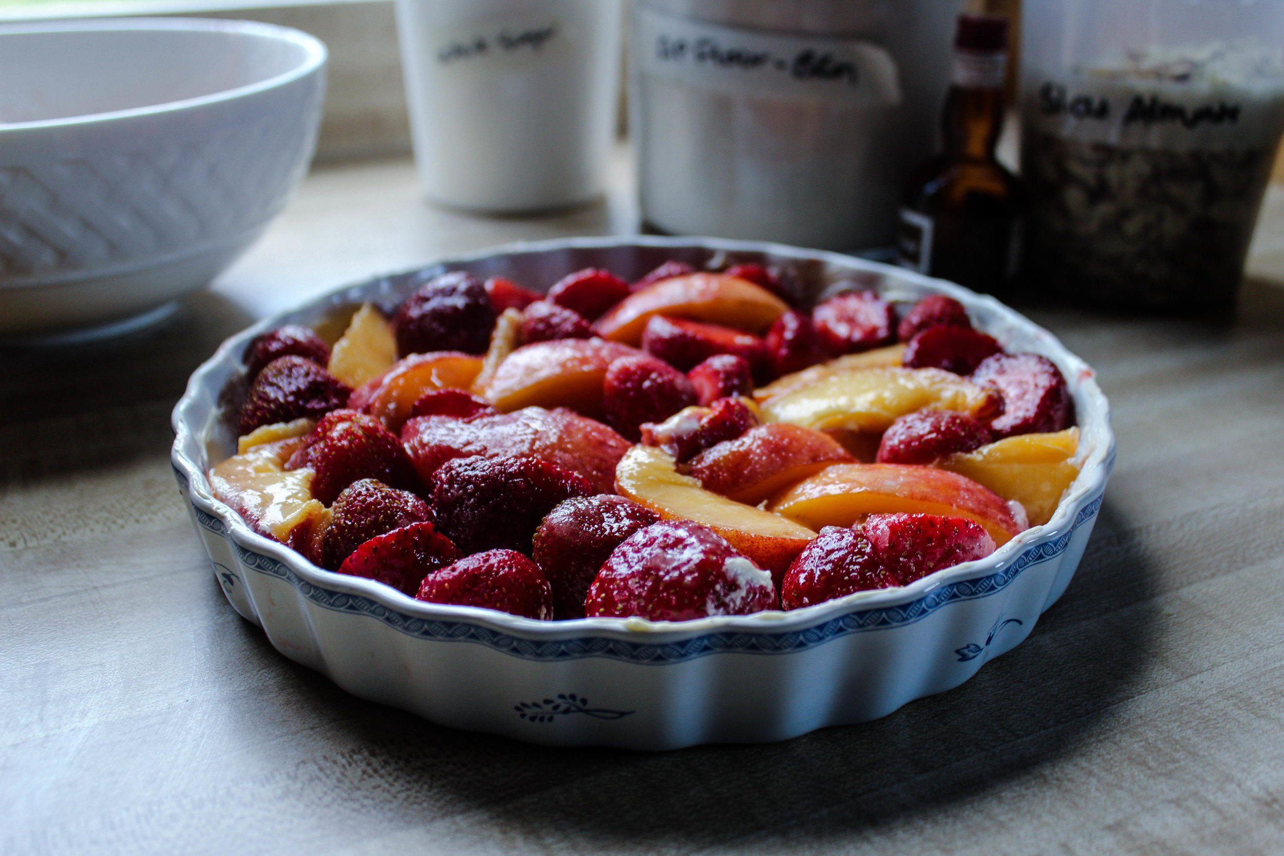 Peach and Strawberry Summer Cobbler